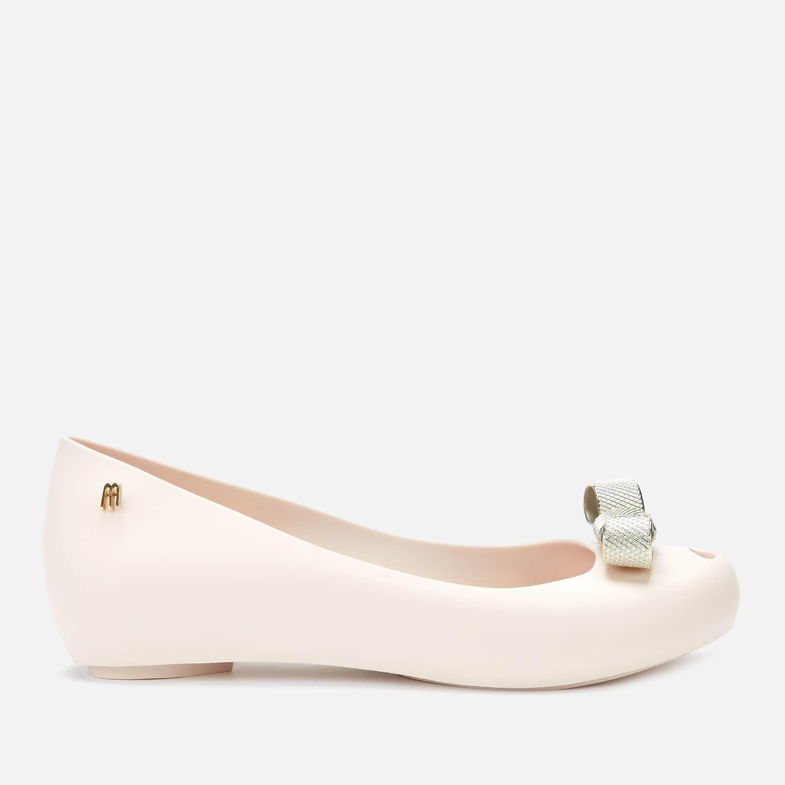 Melissa Women's Ultragirl Chrome Tie Ballet Flats - Ivory - UK 4 - White