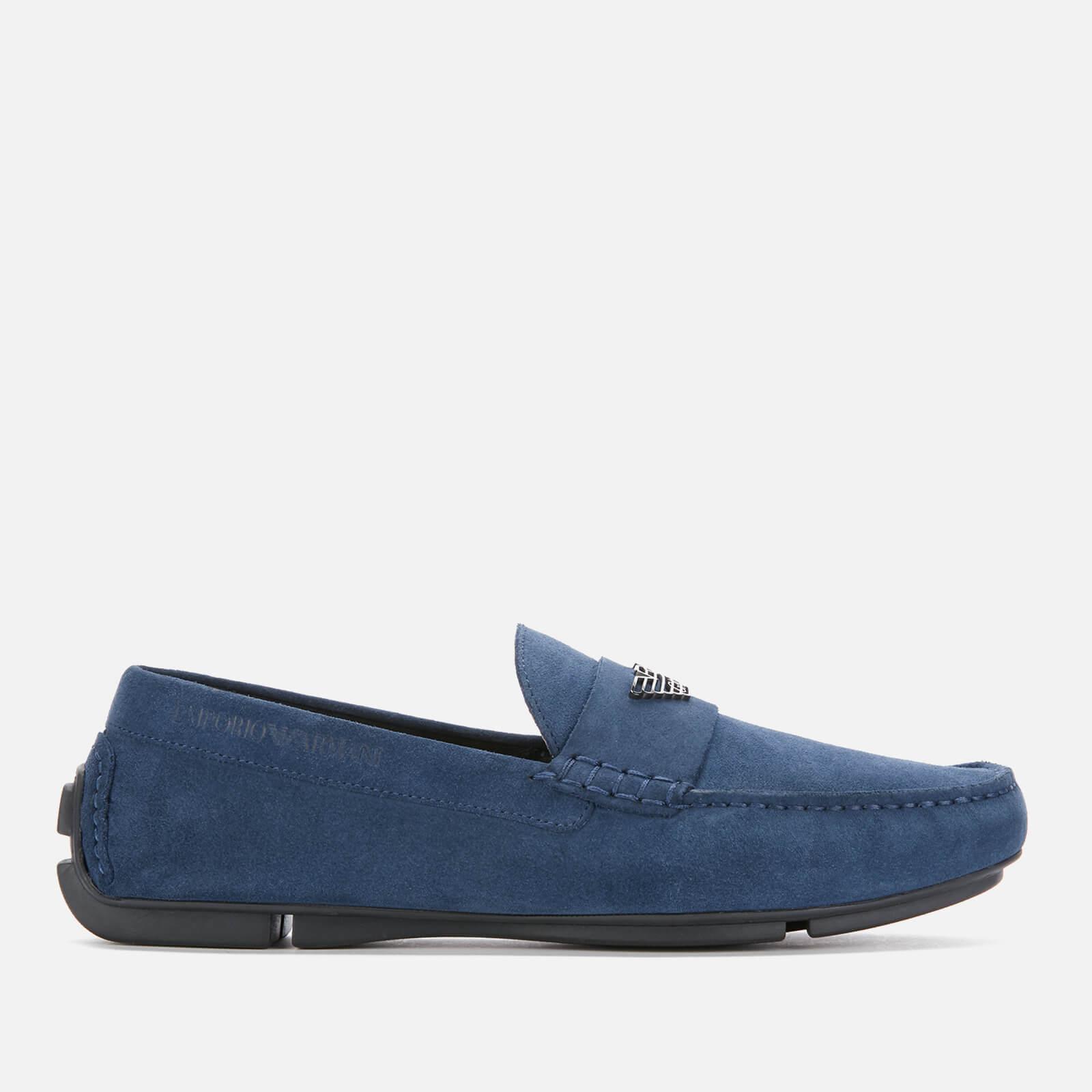 Emporio Armani s Suede Driving Shoes - Midnight - EU 42/UK 8 - Blue