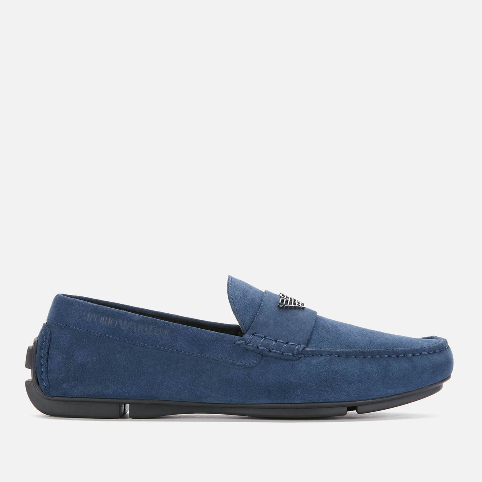 Emporio Armani s Suede Driving Shoes - Midnight - EU 42/UK 8 - Blue