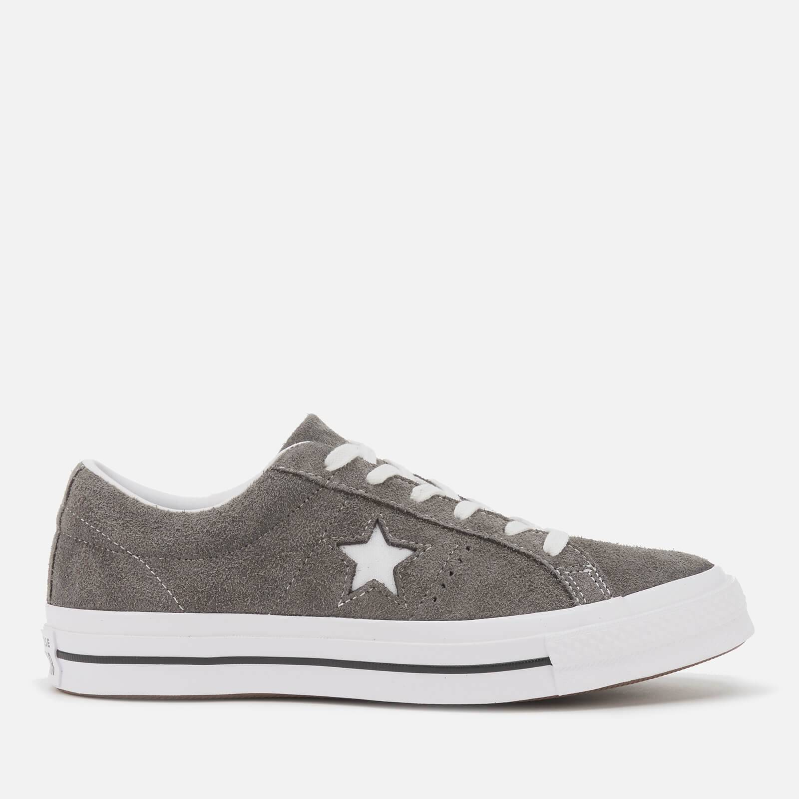 Converse Men's One Star Vintage Suede Ox Trainers - Carbon Grey/White/Black - UK 9 - Grey