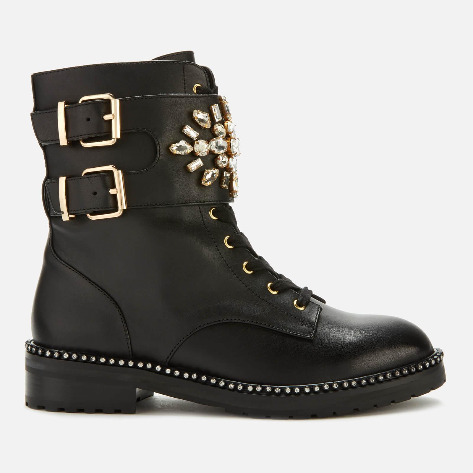 Kurt Geiger London Women's Stoop Leather Lace Up Boots - Black - UK 4