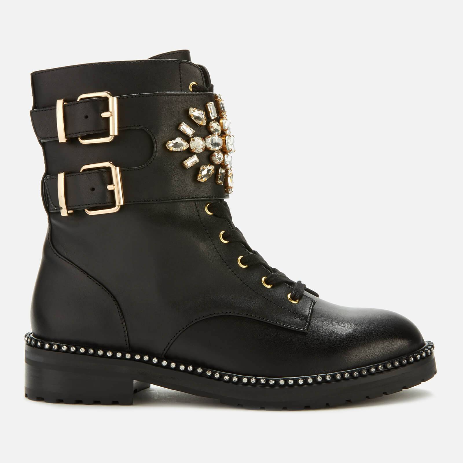 Kurt Geiger London Women's Stoop Leather Lace Up Boots - Black - UK 3