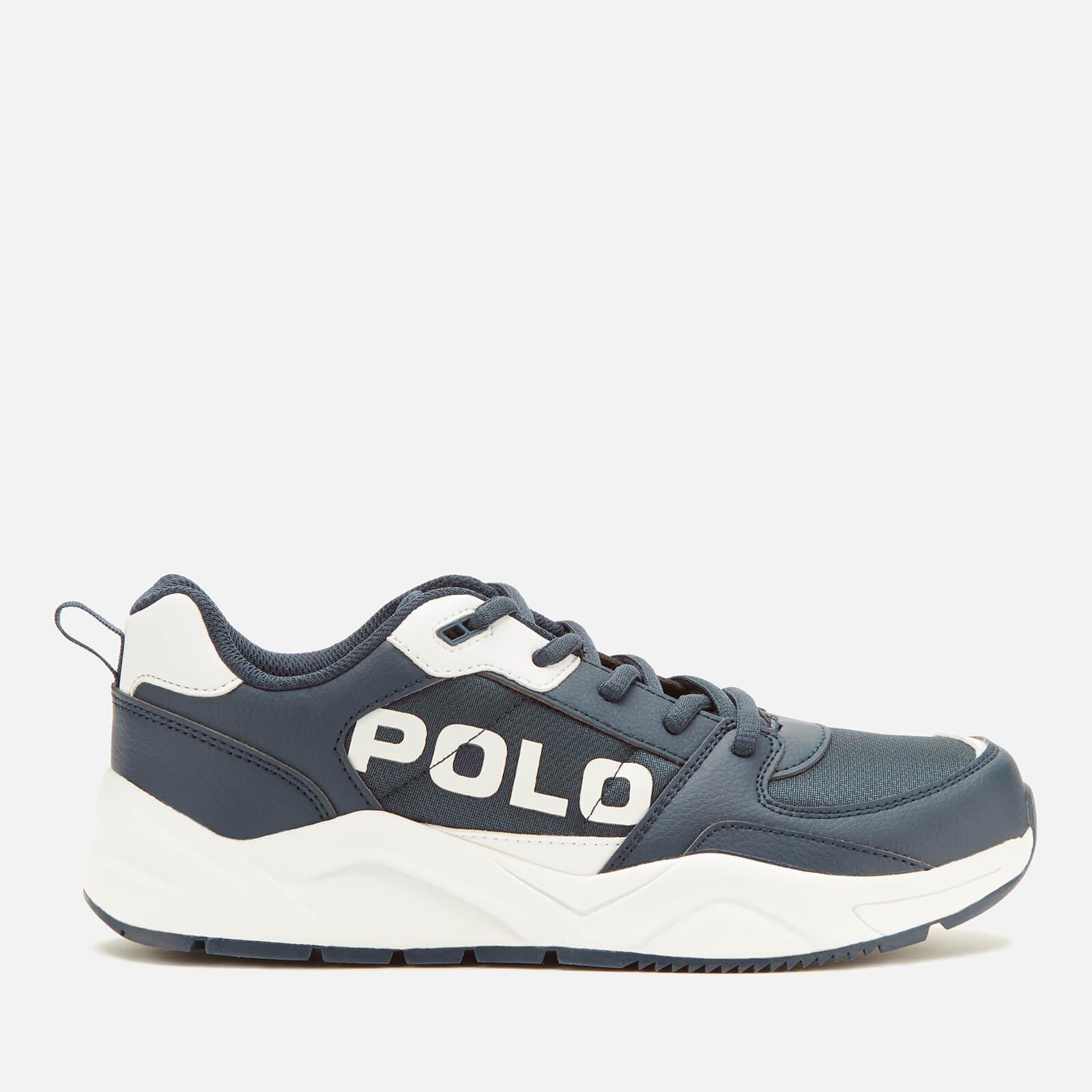 Ralph Lauren Polo Ralph Lauren Kids' Chaning Polo Low Top Trainers - Navy/White - UK 5.5 Kids/EU 39 - Blue