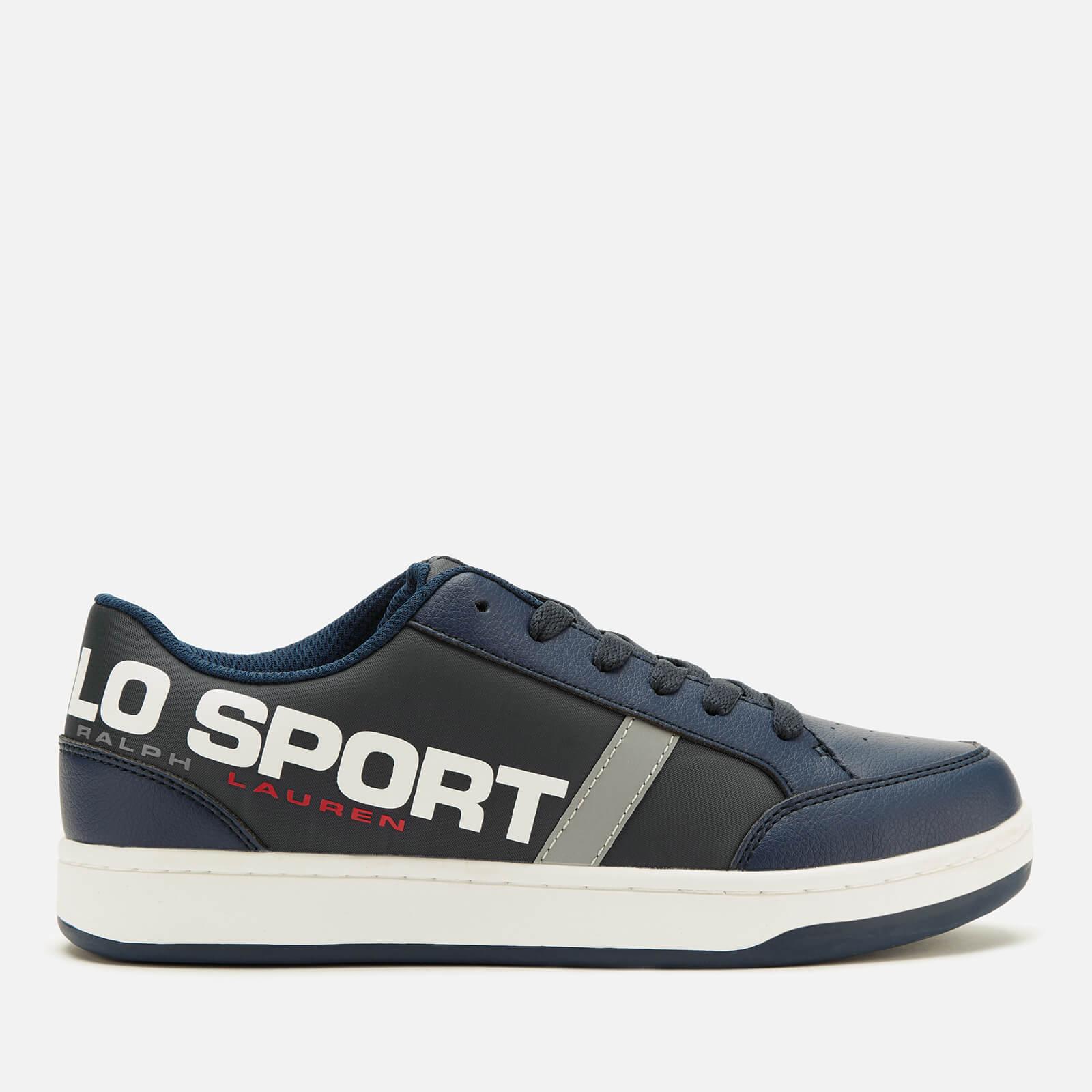 Ralph Lauren Polo Ralph Lauren Kids' Belden Polo Sport Low Top Trainers - Navy/Silver - UK 3.5 Kids/EU 35 - Blue