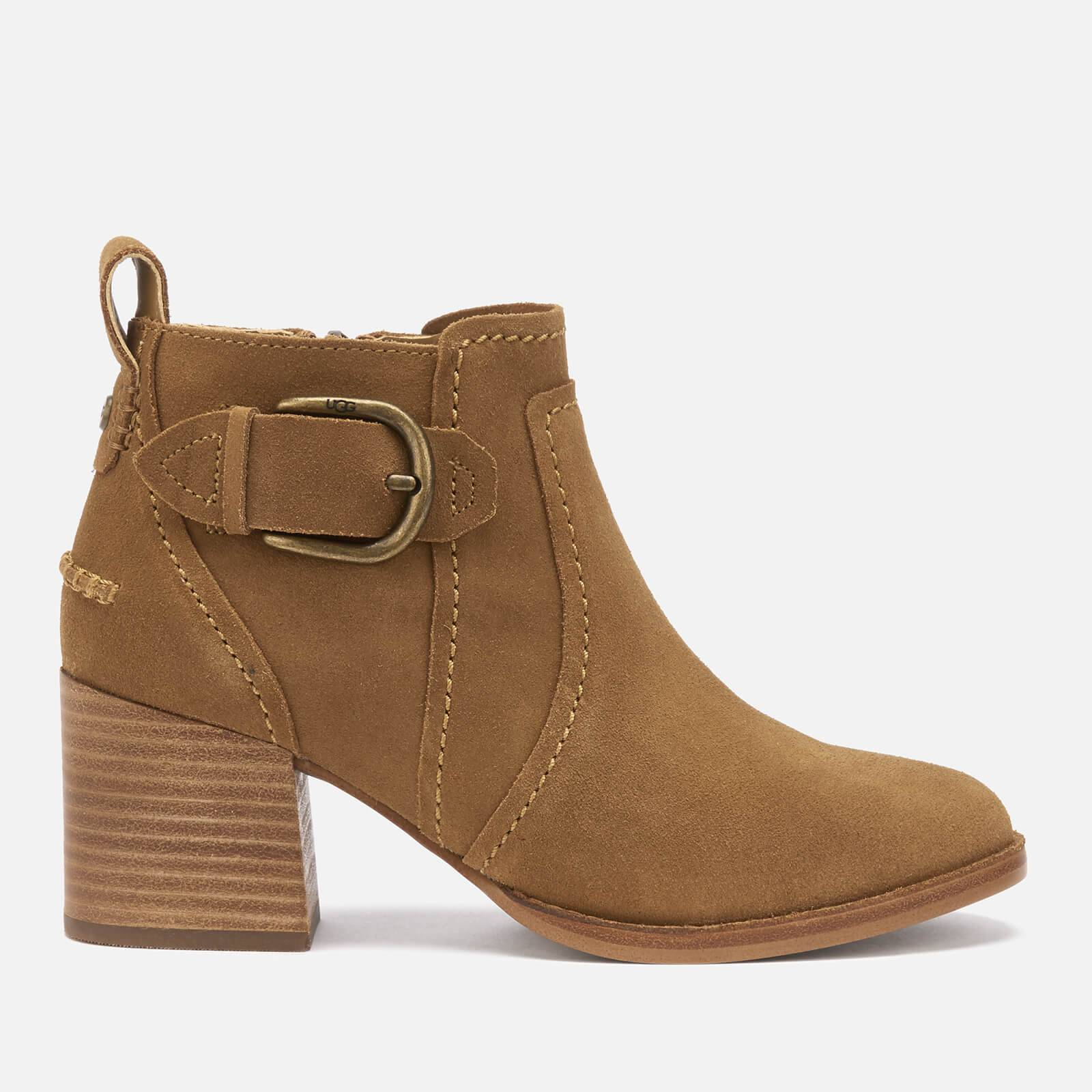 UGG Women's Leahy Buckle Heeled Ankle Boots - Chestnut - UK 8