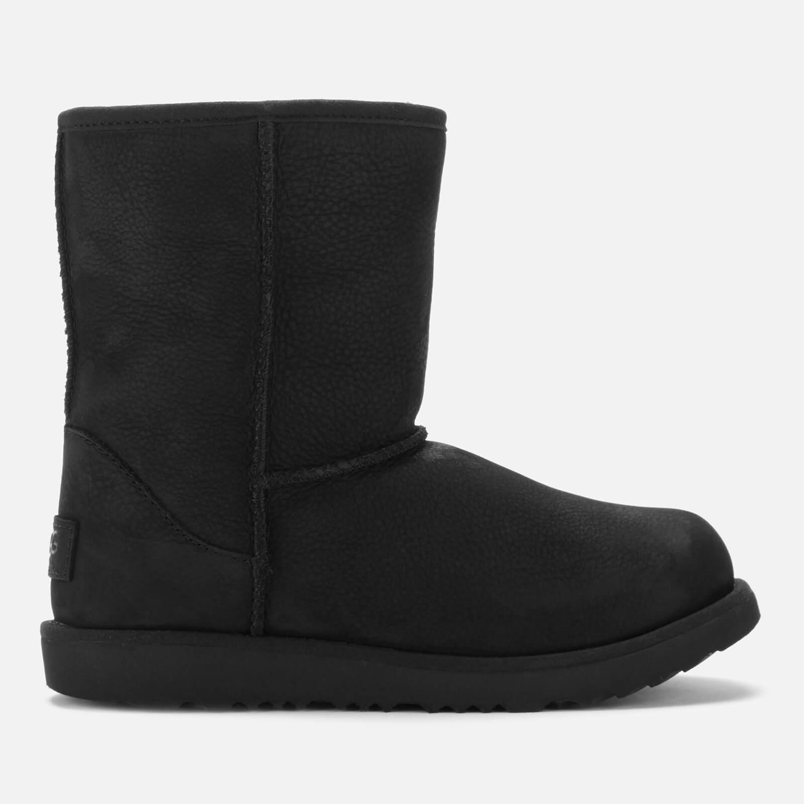 UGG Kids' Classic Short II Waterproof Boots - Black - UK 12 Kids