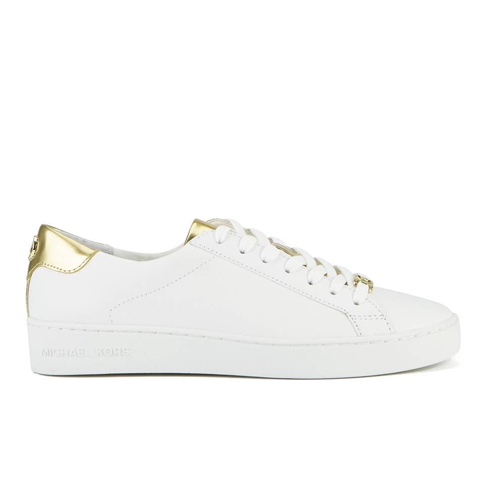 MICHAEL MICHAEL KORS Women's Irving Lace Up Trainers - White - US 9/UK 6 - White