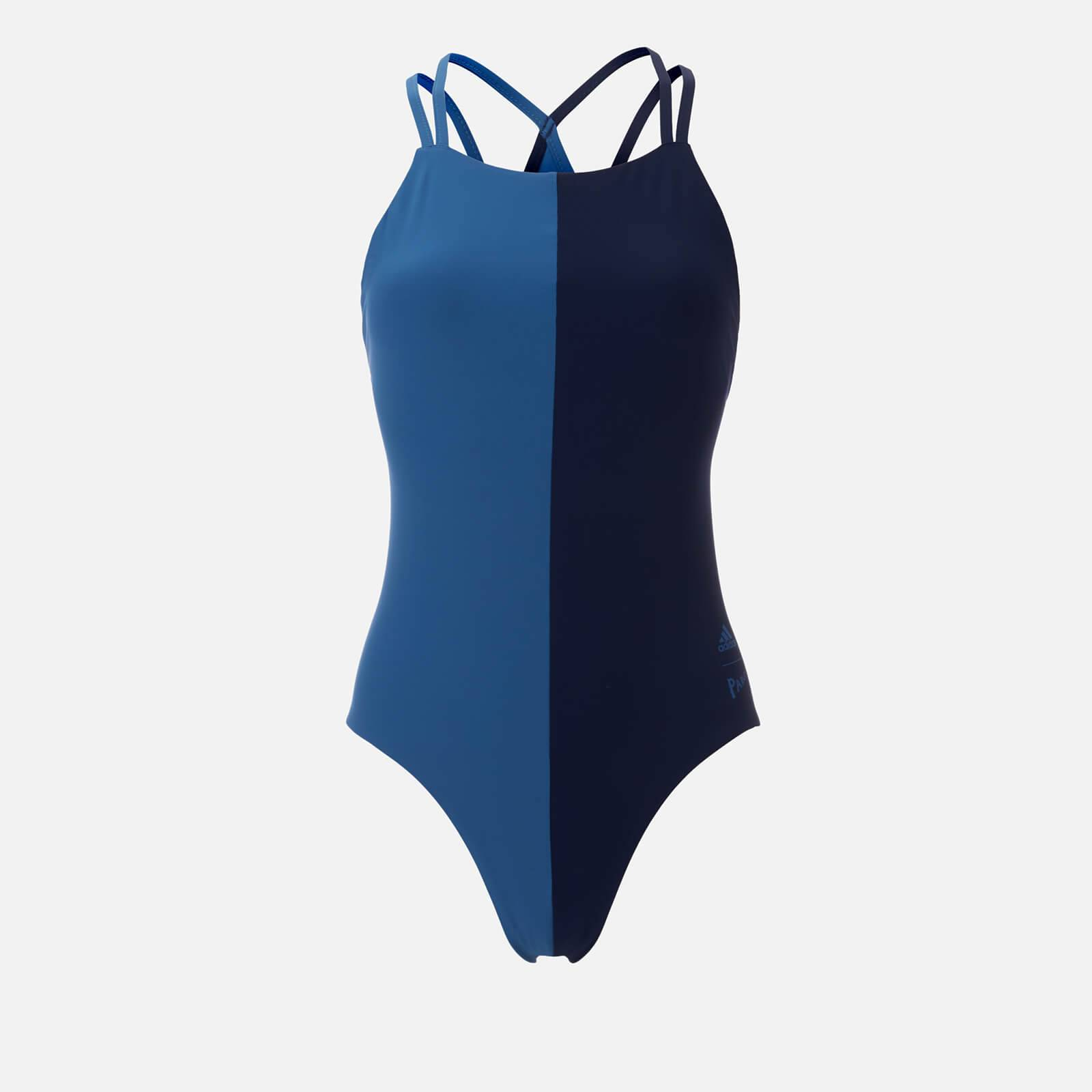 adidas Women's Fit Parley Suit - Blue/Black - 30 Inch (Chest Size) - Multi