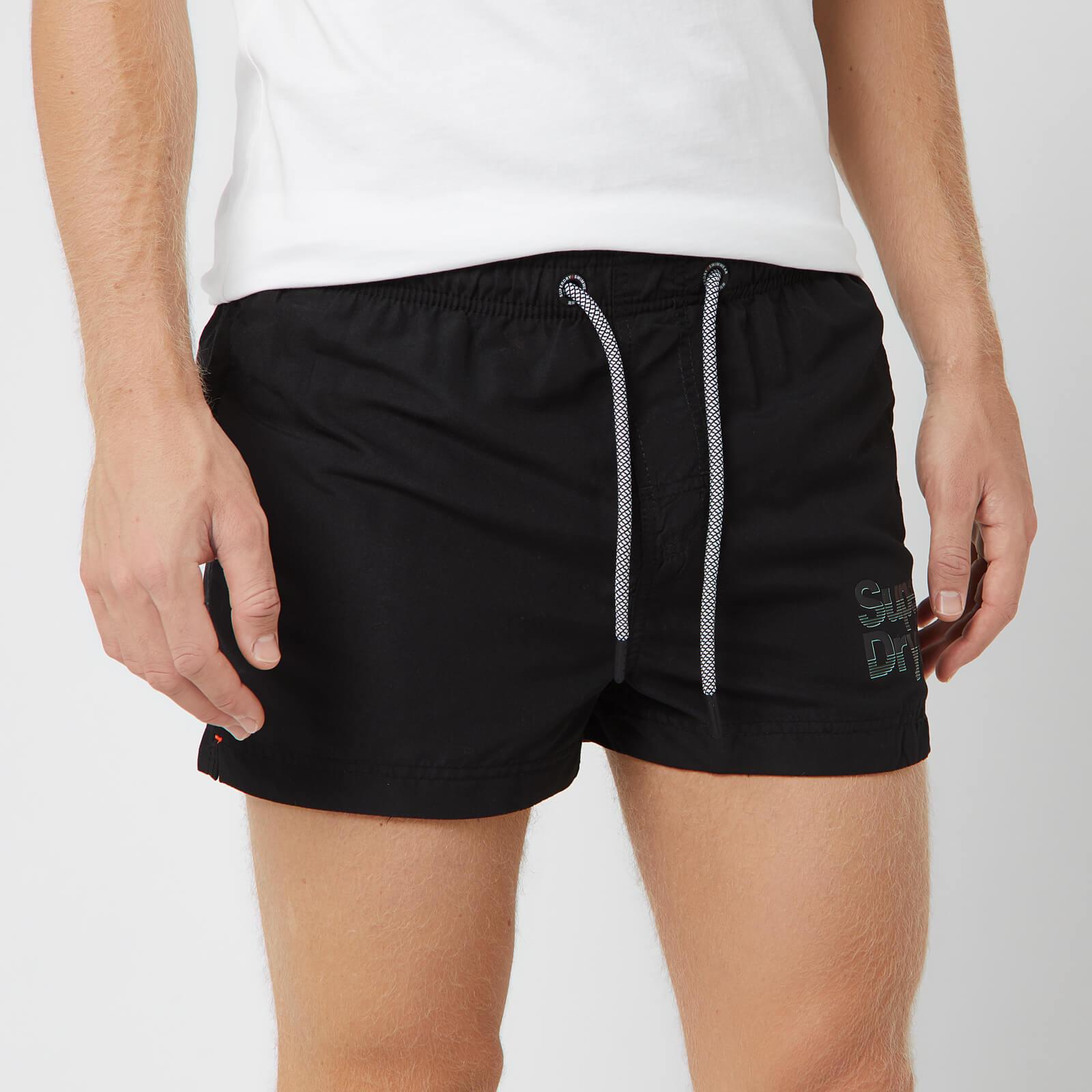 Superdry Men's Sorrento Pastel Swim Shorts - Black - S