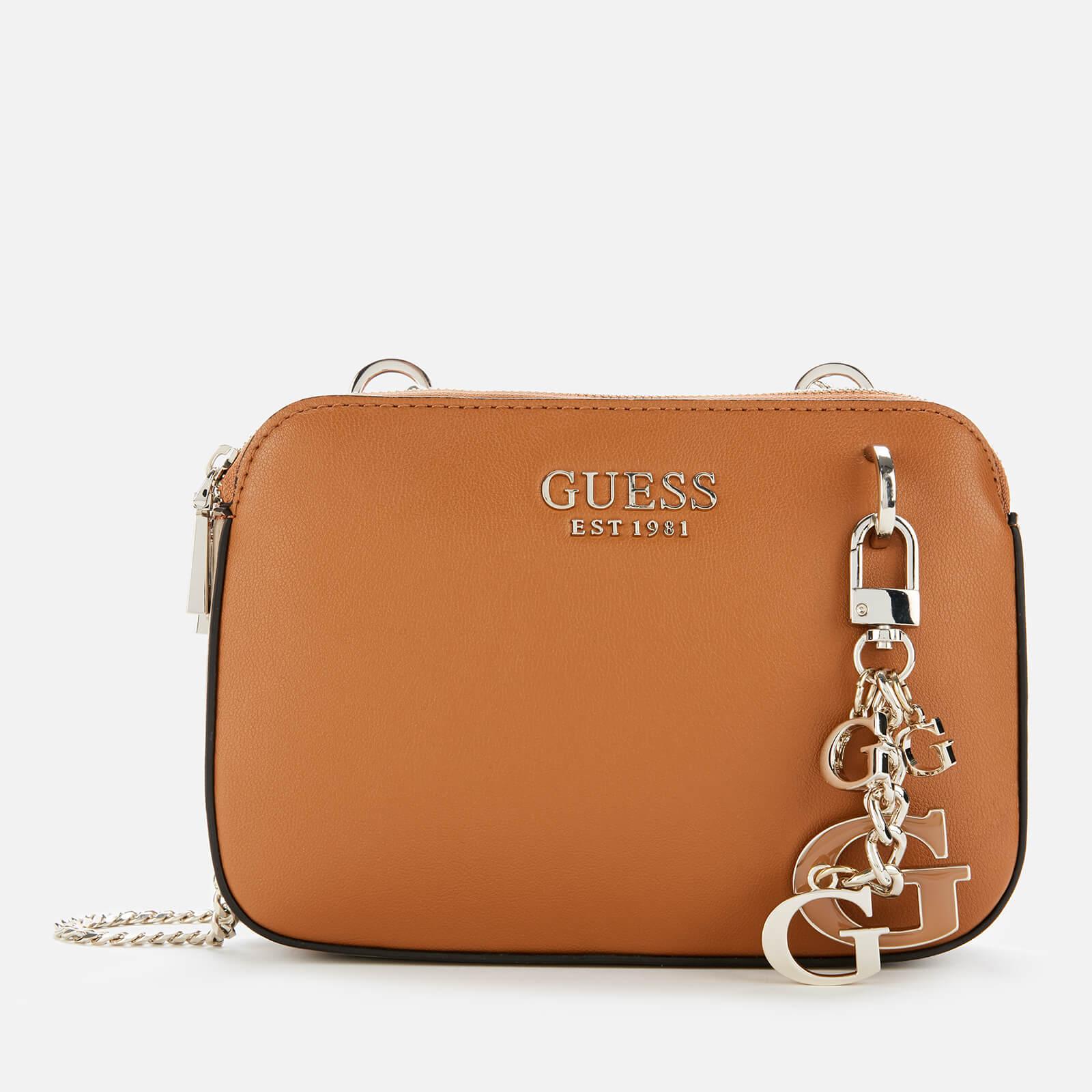 Guess Women's Sherol Convertible Cross Body Bag - Cognac/Multi