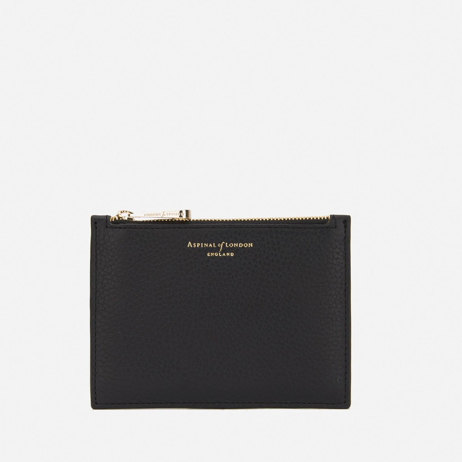 Aspinal of London Women's Essential Small Flat Pouch - Black
