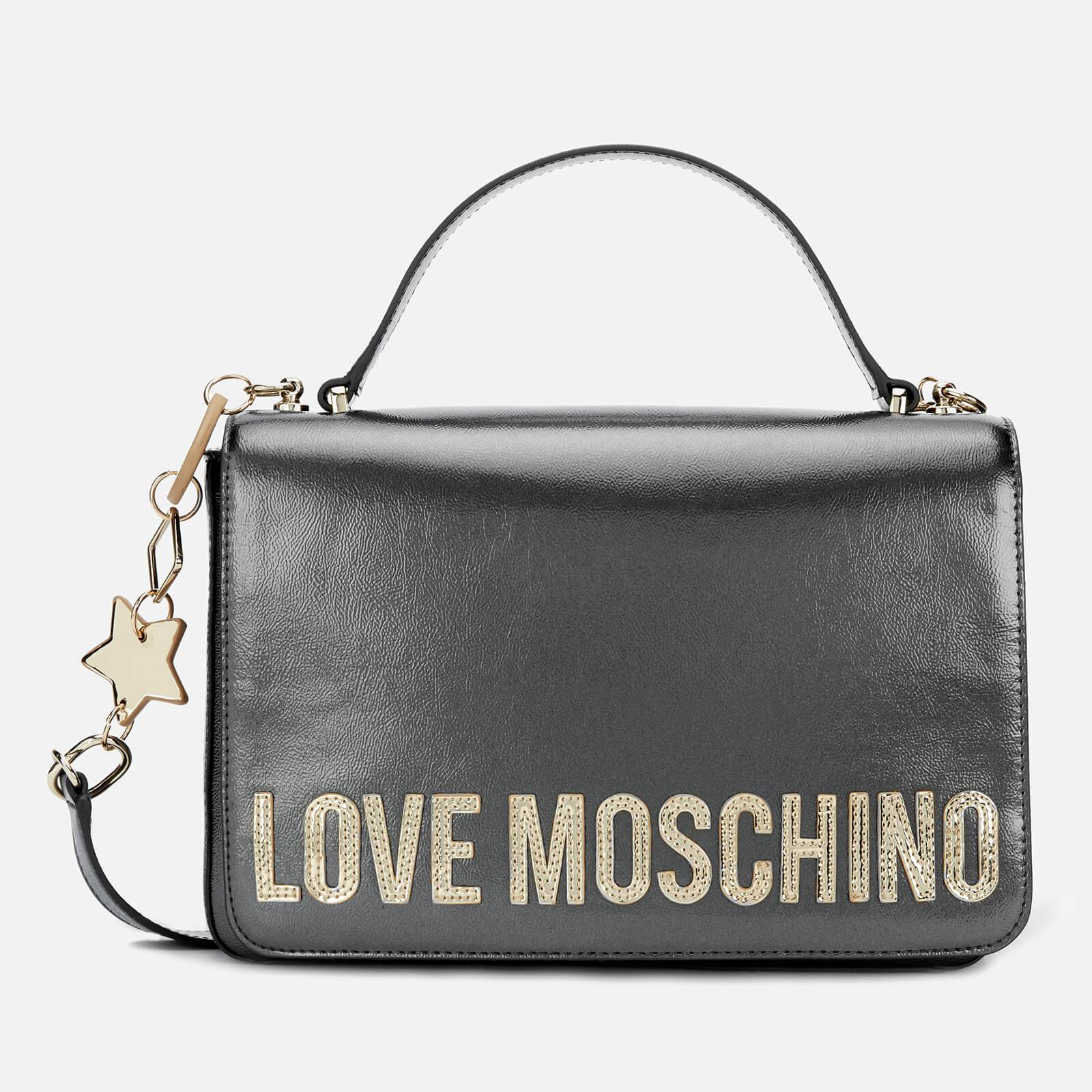 Moschino Love Moschino Women's Logo Charm Shoulder Bag - Pewter