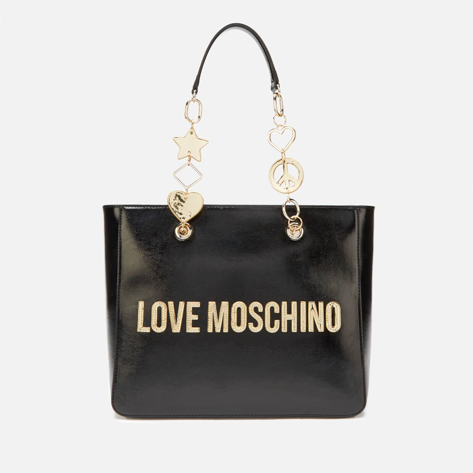 Moschino Love Moschino Women's Logo Charm Tote - Black