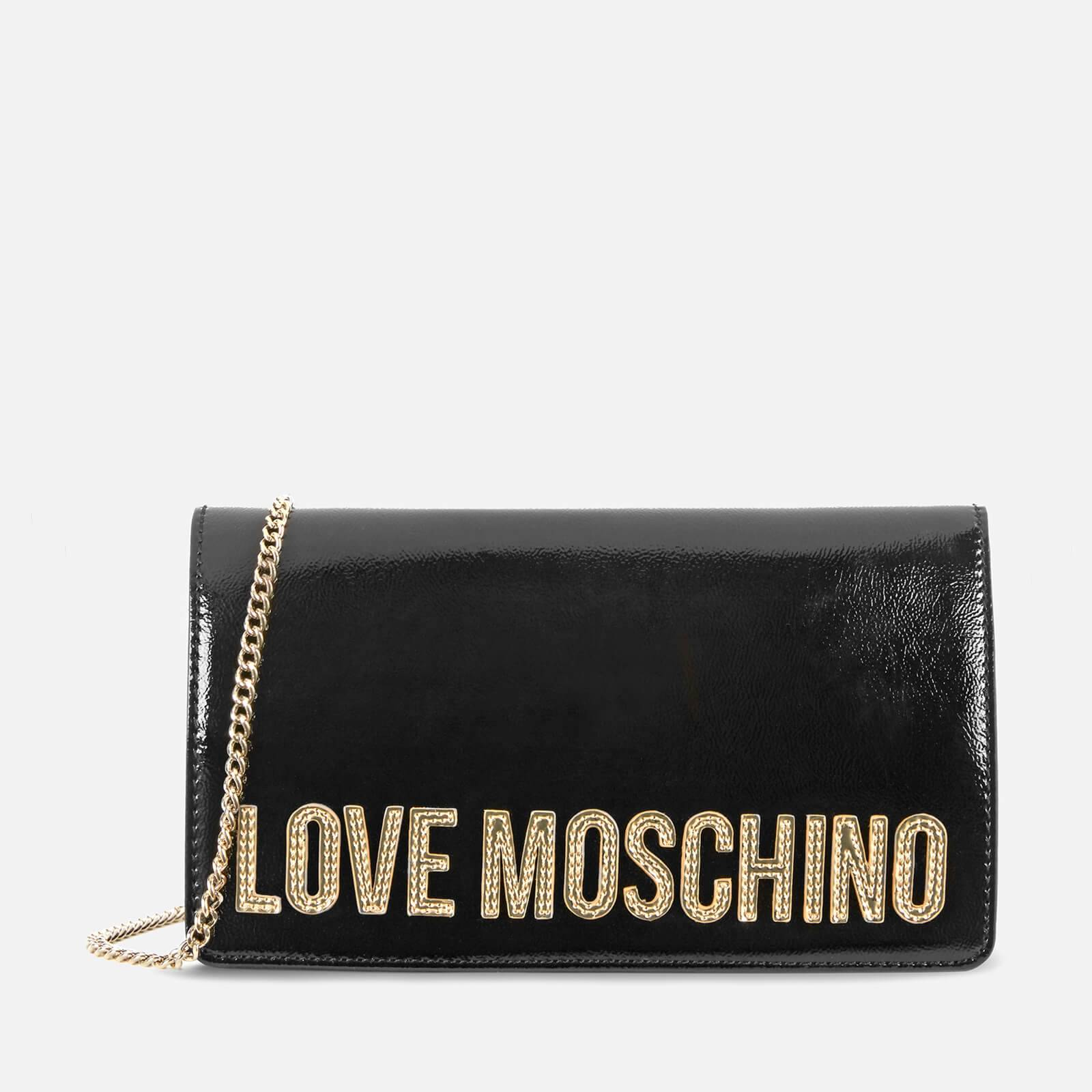 Moschino Love Moschino Women's Logo Charm Cross Body - Black