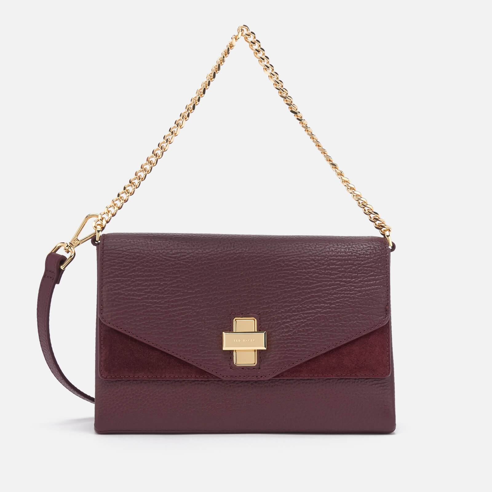 Ted Baker Women's Bethan Flip Clasp Cross Body Bag - Oxblood
