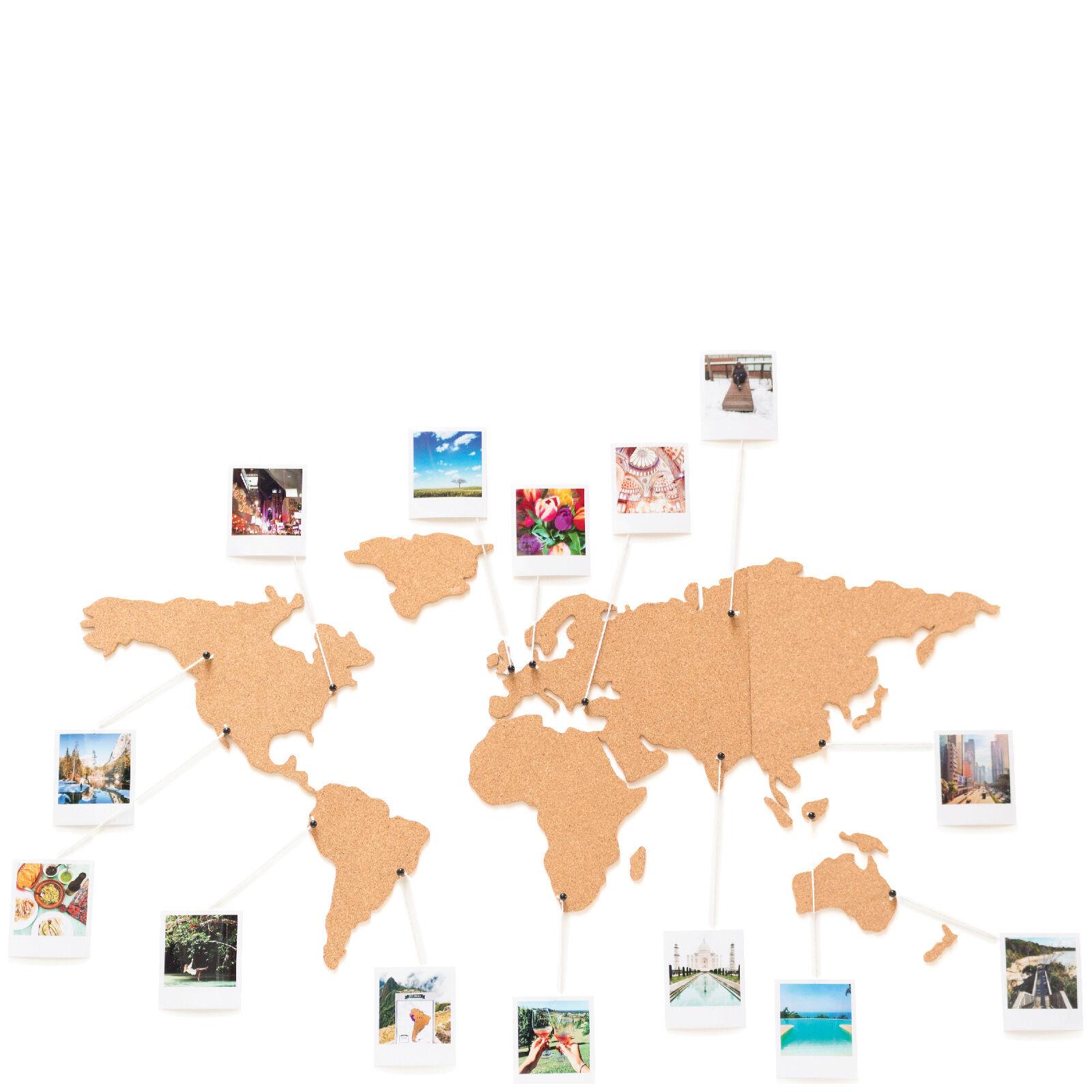 Luckies of London Cork Board World Travel Map