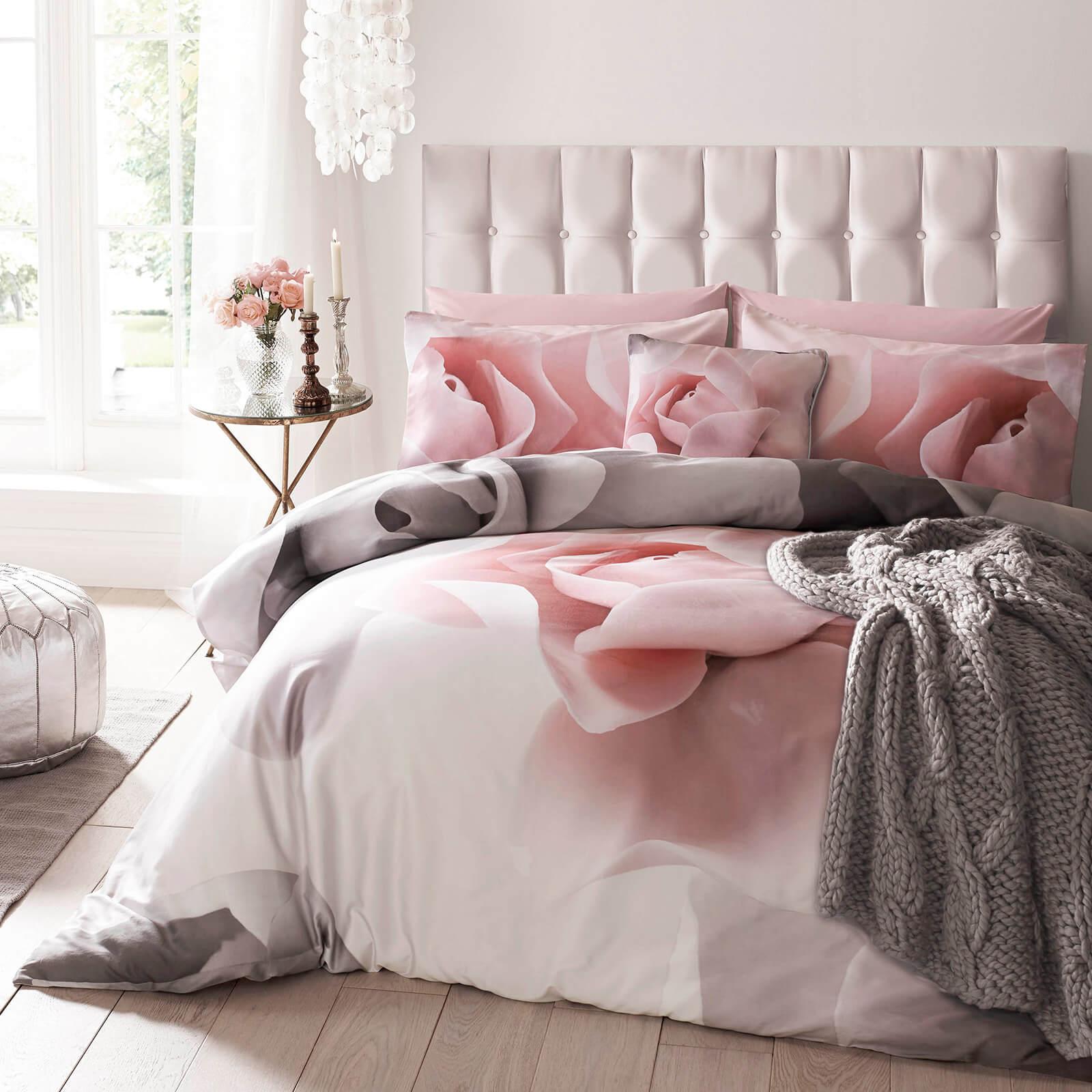 Ted Baker Porcelain Rose Duvet Cover - Pink - Super King