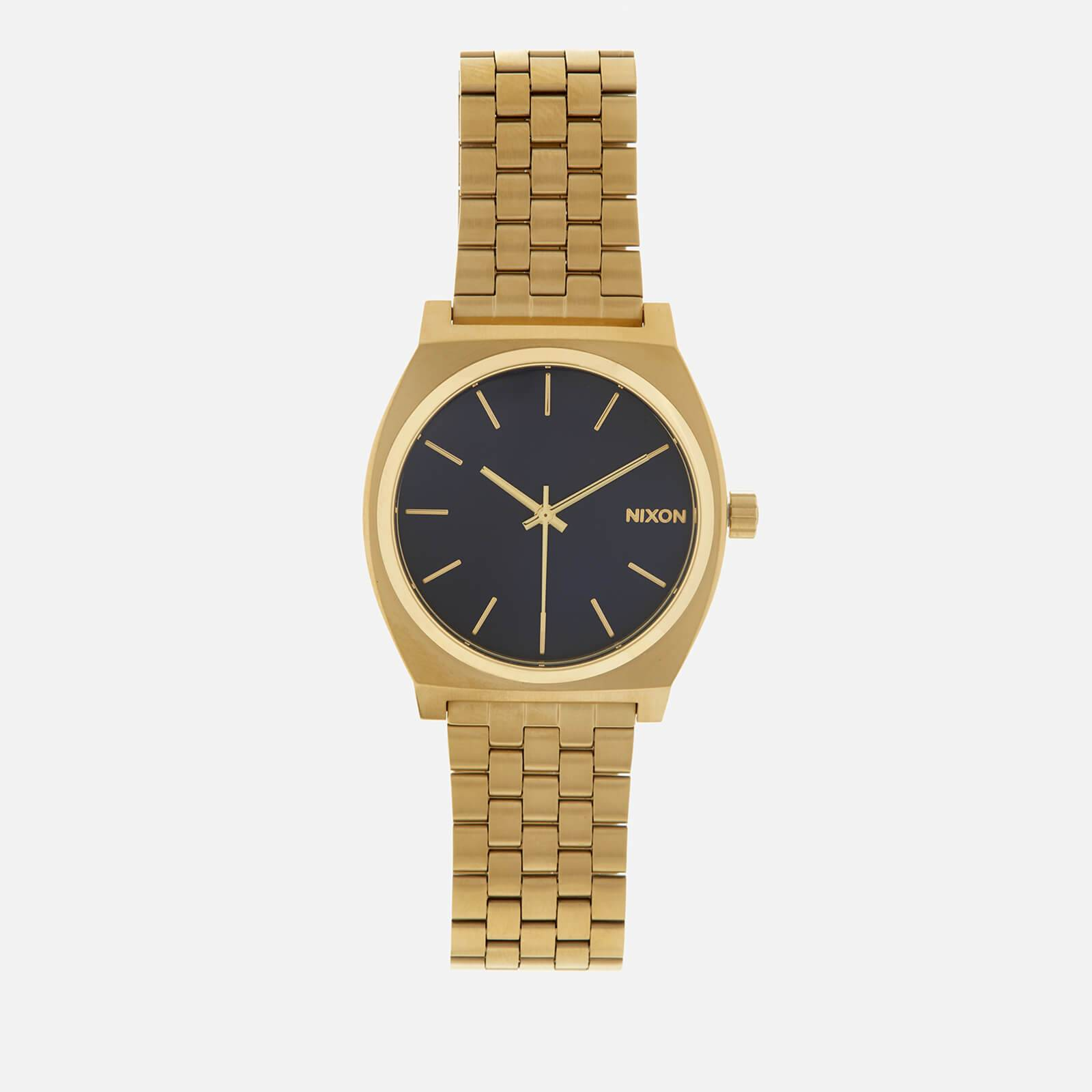 Nixon Men's The Time Teller Watch - All Light Gold/Cobalt