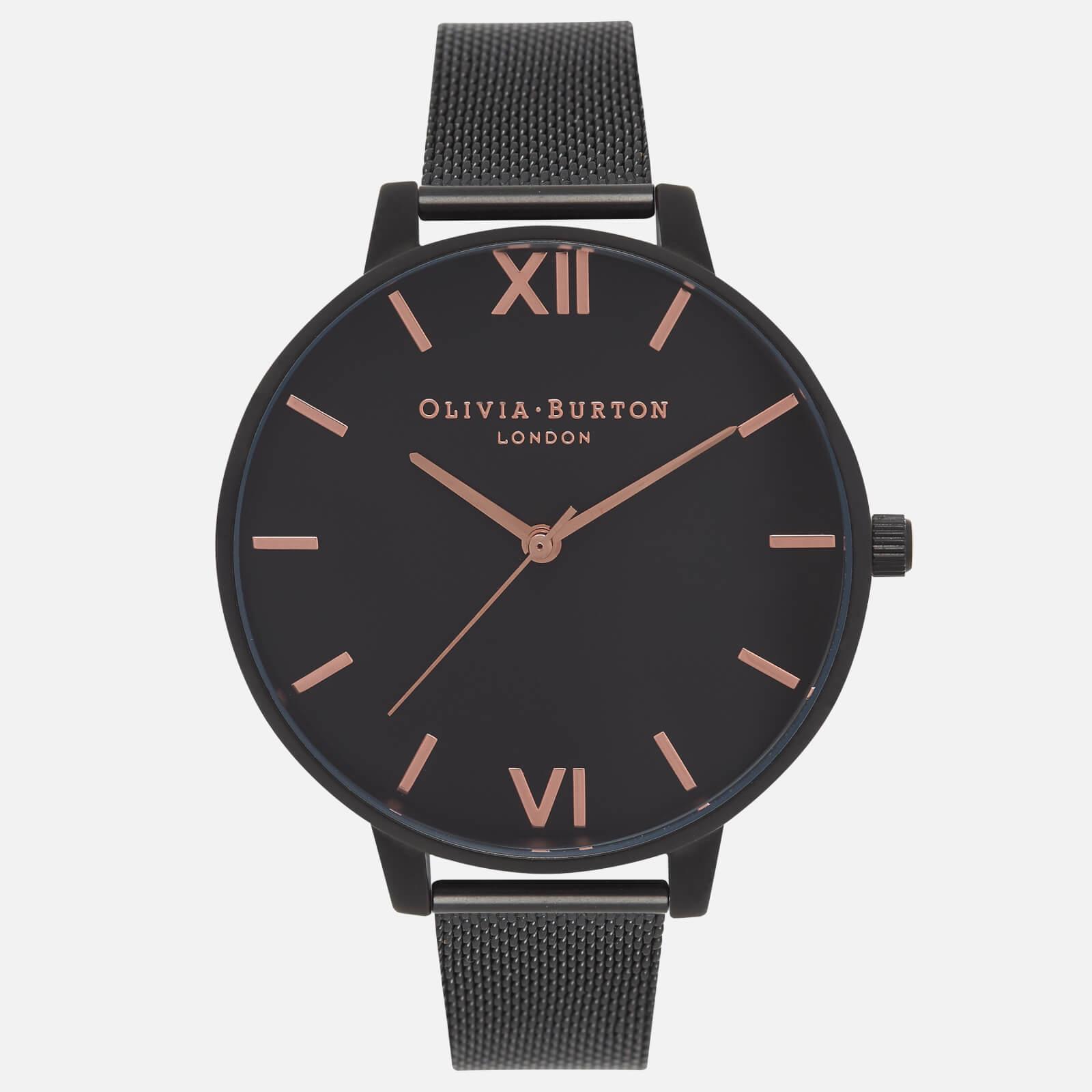 Olivia Burton Women's After Dark Matte Watch - Rose Gold and Black