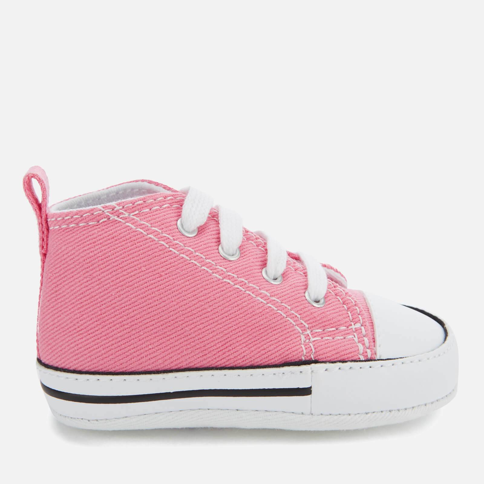 Converse Babies Chuck Taylor First Star Hi-Top Trainers - Pink - UK 1 Baby