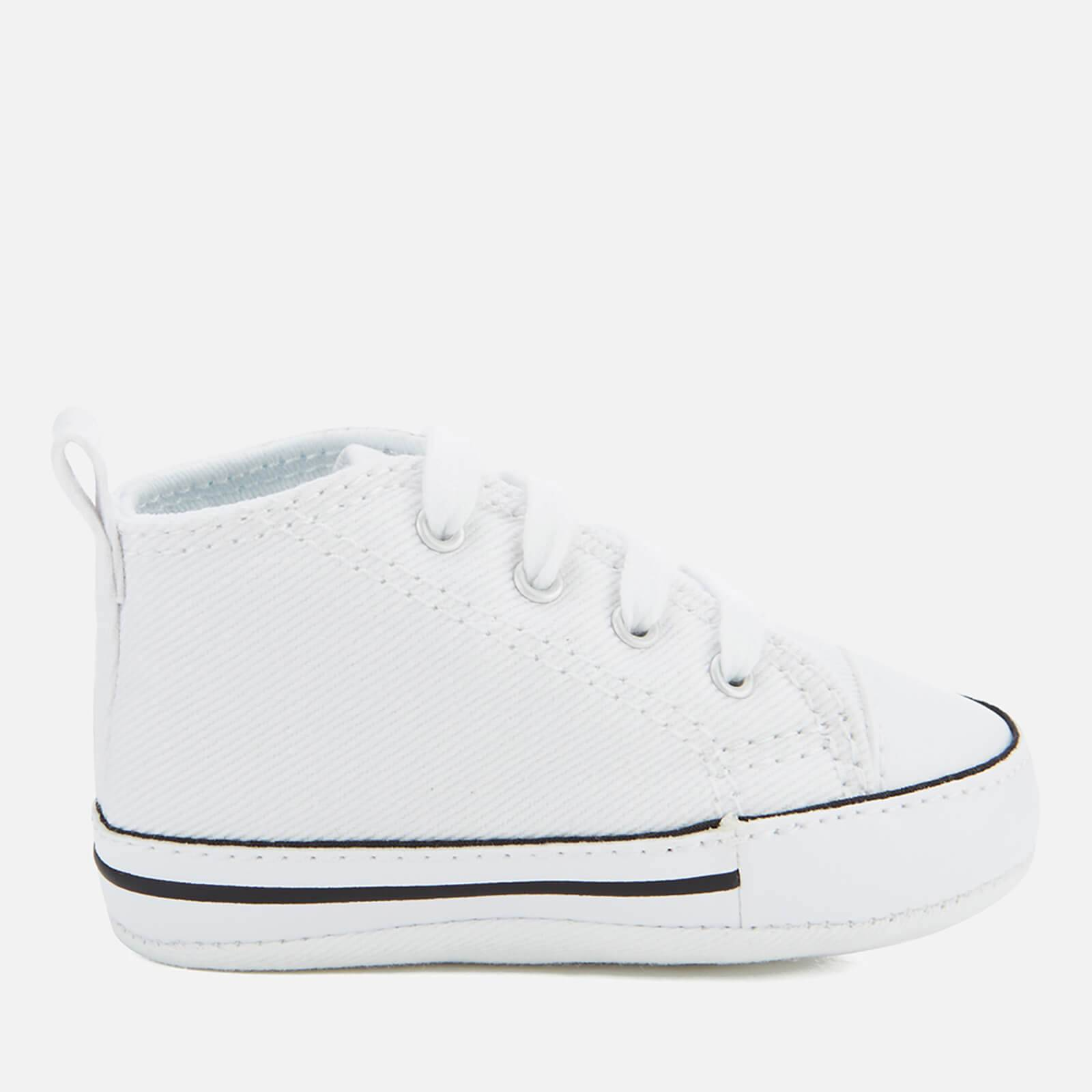 Converse Babies Chuck Taylor First Star Hi-Top Trainers - White - UK 3 Baby