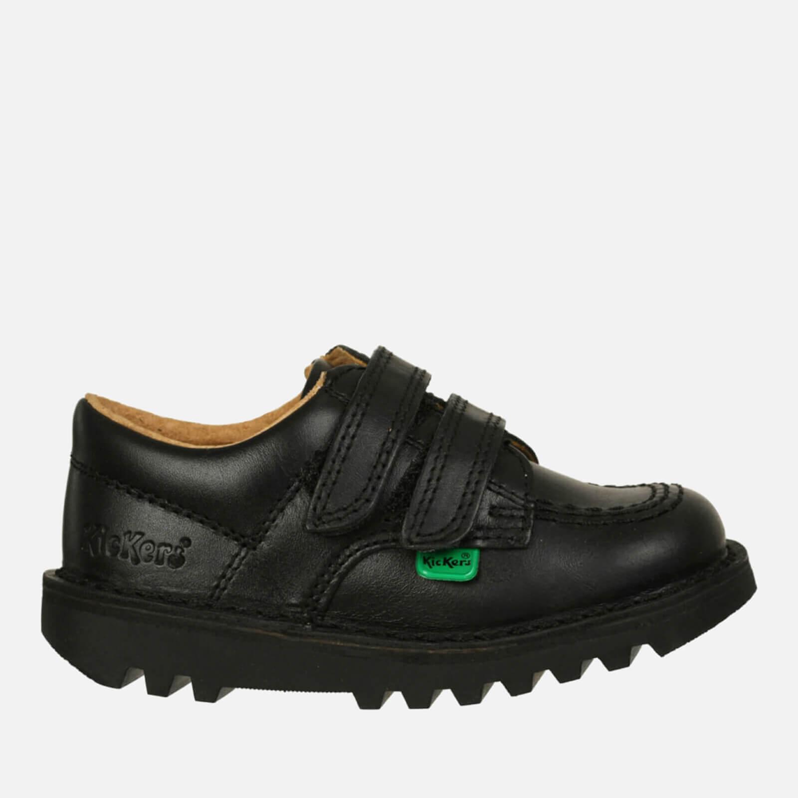 Kickers Kids' Kick Lo Velcro Strap Shoes - Black - UK 6 Infant/EU 23 - Black