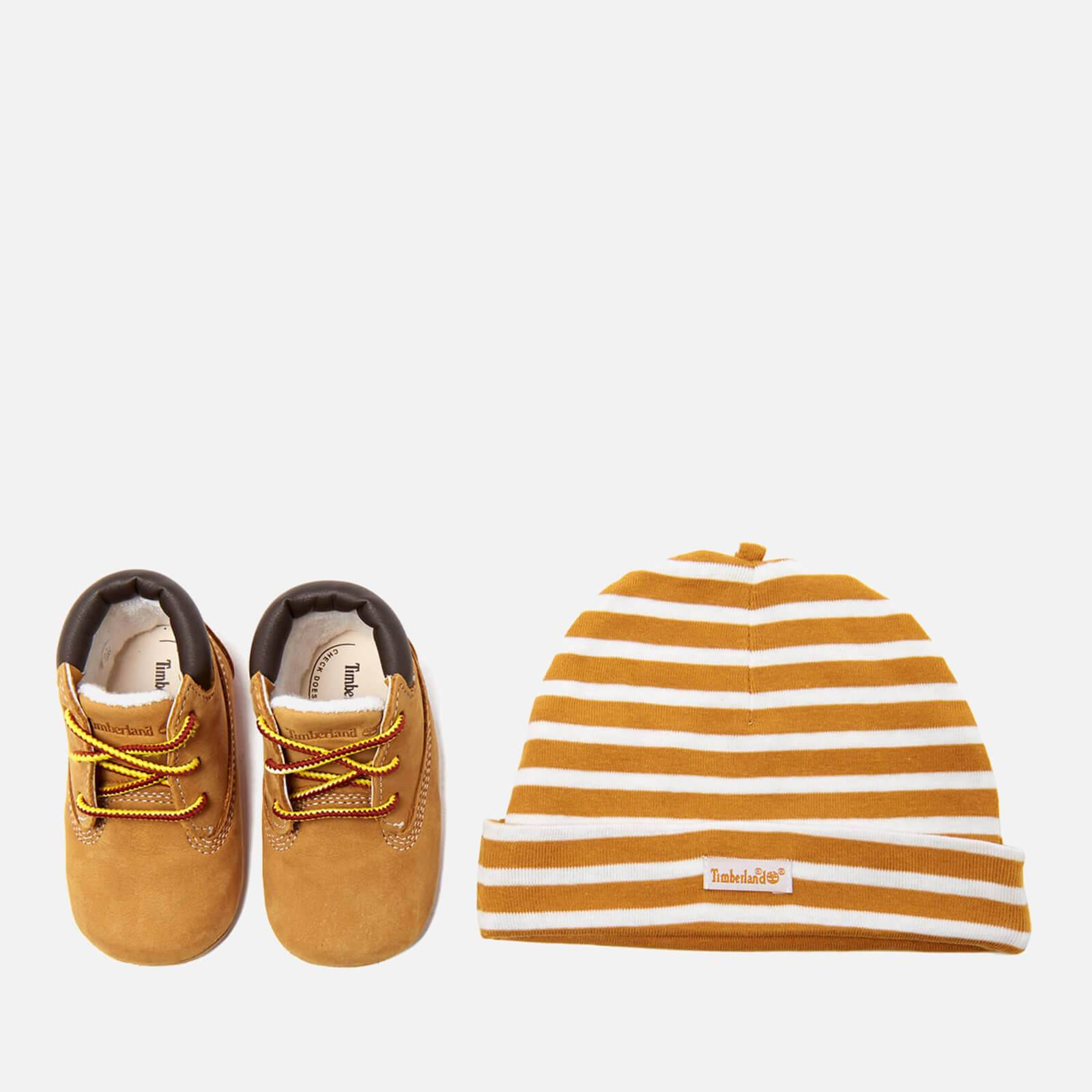 Timberland Babies' Crib Bootie with Hat Gift Set - Wheat - UK 0 Baby