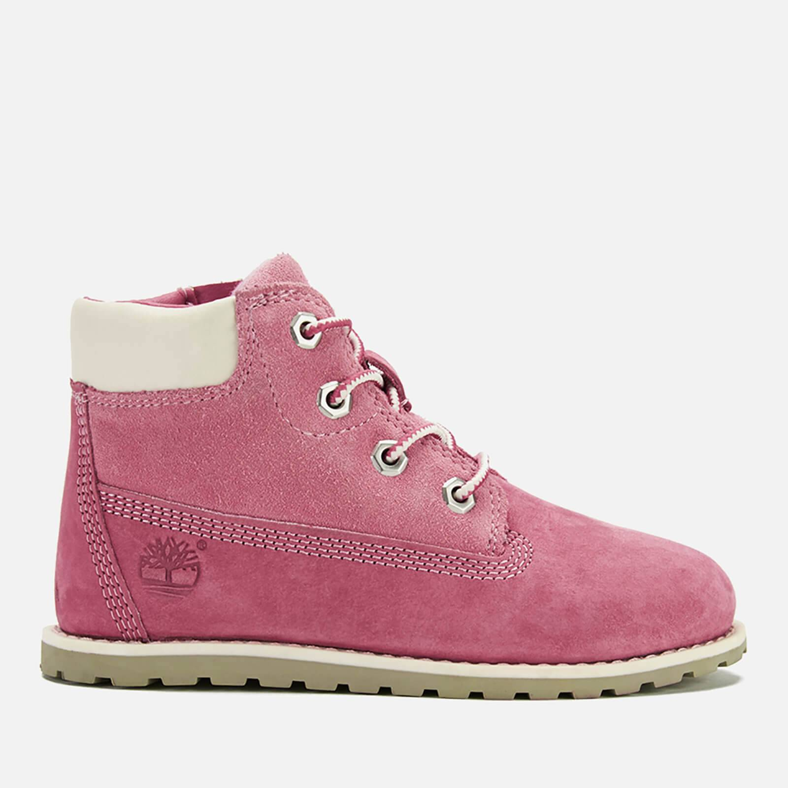 Timberland Toddlers' Pokey Pine Leather 6 Inch Zip Boots - Pink - UK 8.5 Toddlers