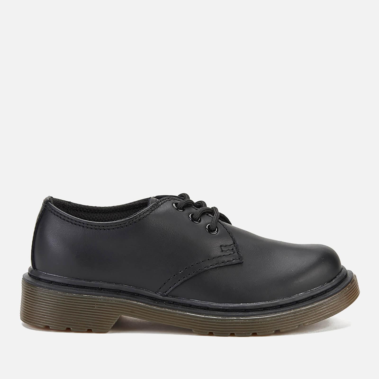 Dr. Martens Kids' Everley Leather 3-Eye Shoes - Black - UK 1 Kids - Black
