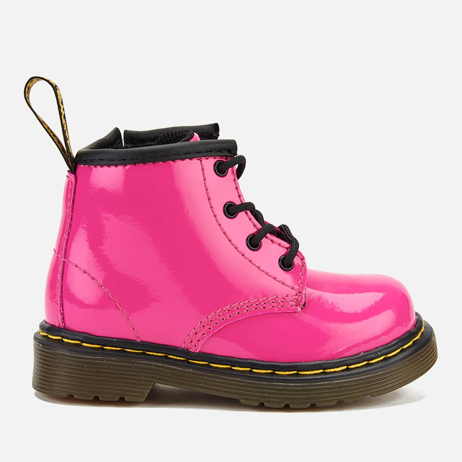 Dr. Martens Toddlers' 1460 I Patent Lamper Lace Up Boots - Hot Pink - UK 4 Toddler
