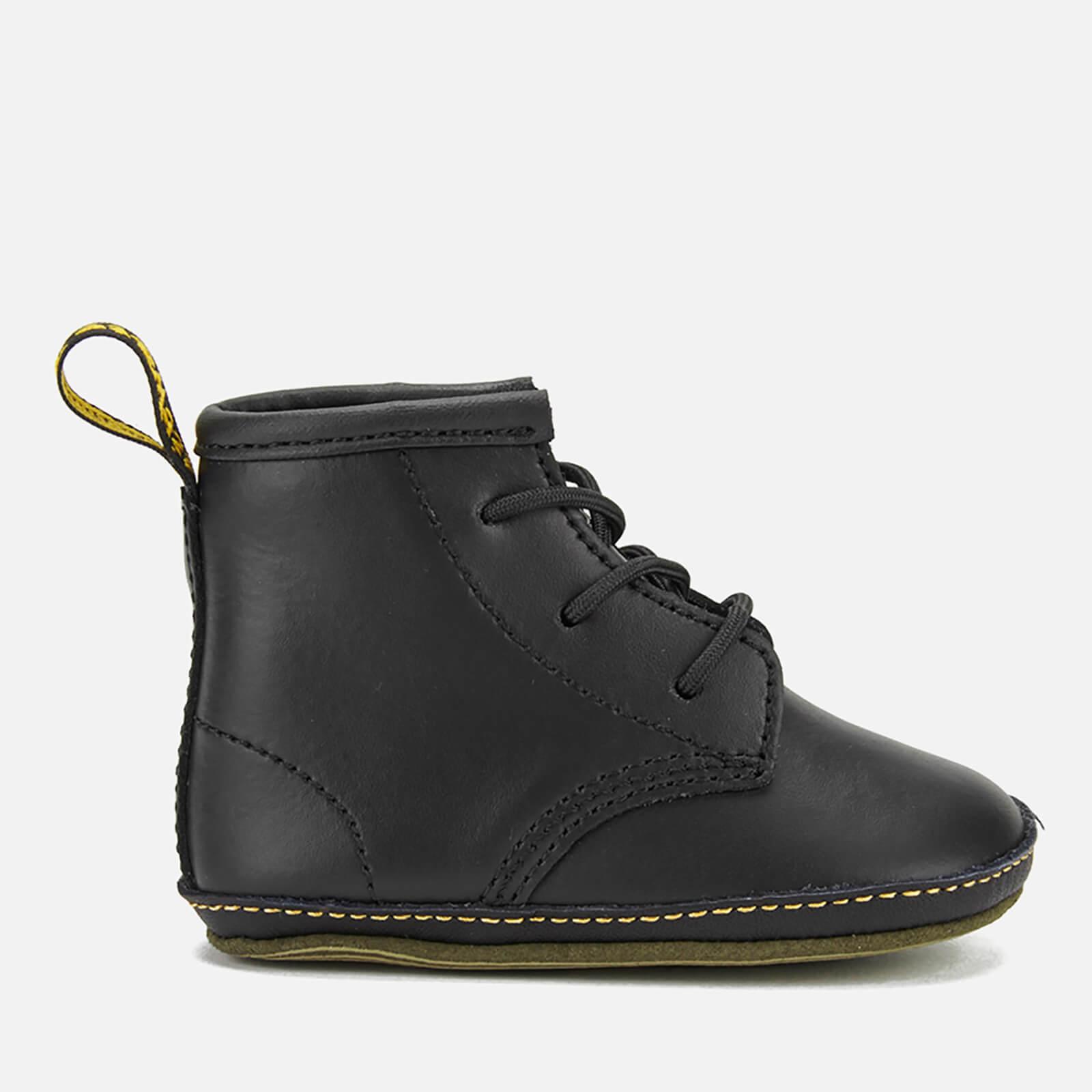 Dr. Martens Babies Auburn Kid Lamper Leather Boots - Black - UK 2 Baby - Black