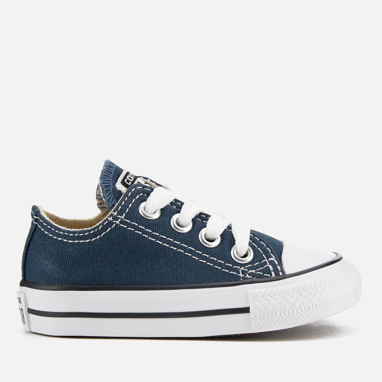 Converse Toddlers' Chuck Taylor All Star Ox Trainers - Navy - UK 2 Toddler
