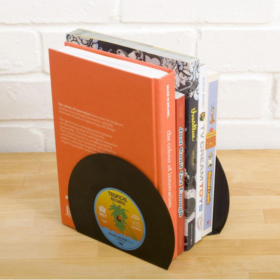 Gift Republic Retro Vinyl Bookends