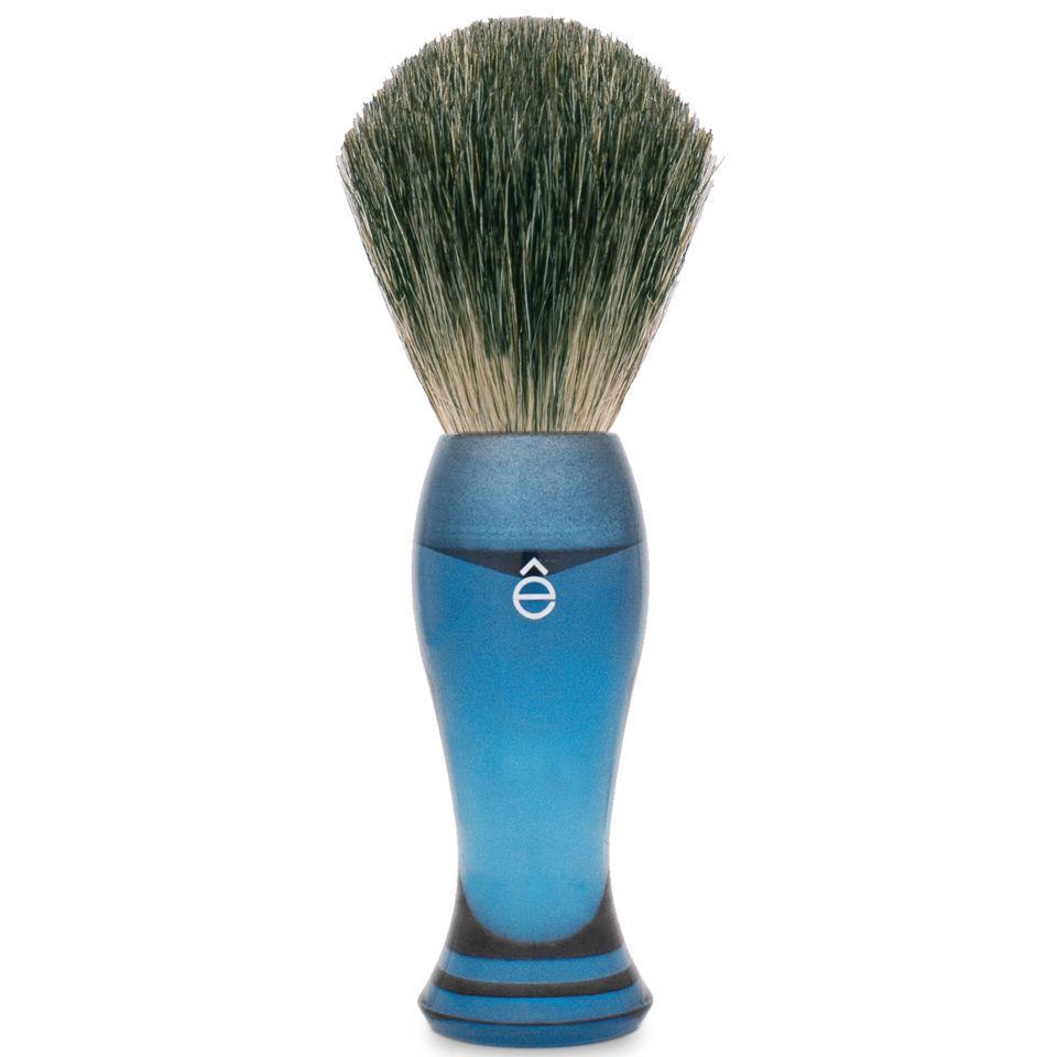 eShave Fine Badger Shaving Brush Blue