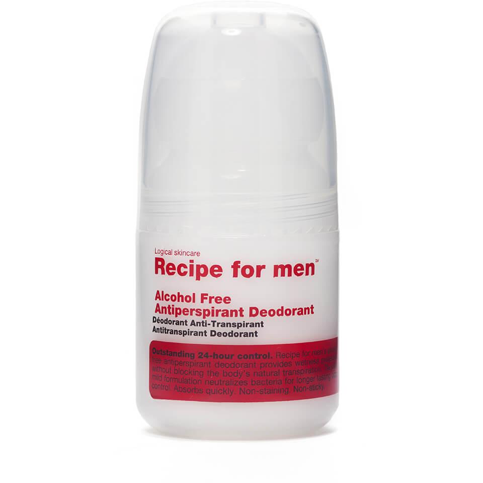 Recipe for Men - Alcohol Free Antiperspirant Roll On Deodorant 60ml