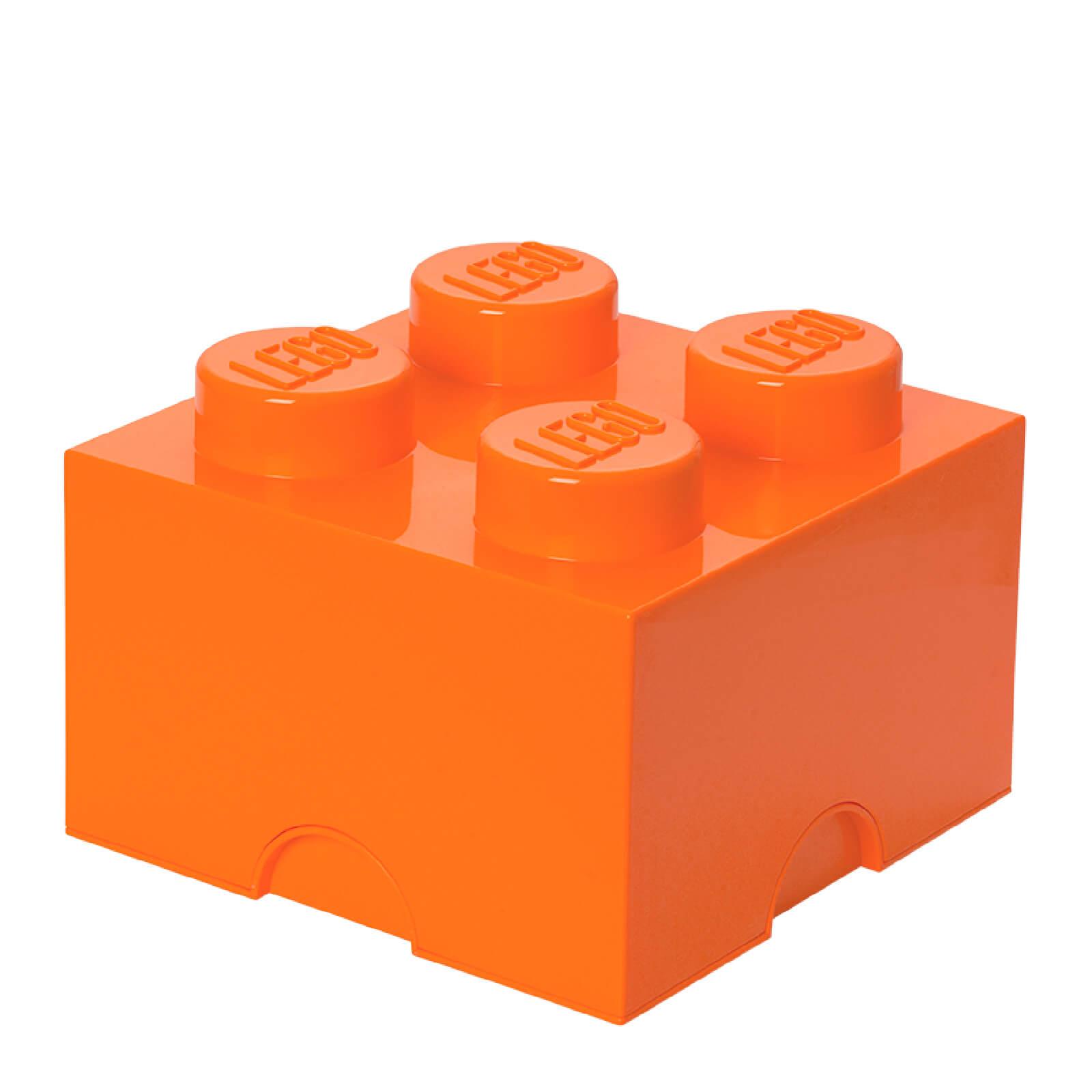 Lego Storage Brick 4 - Bright Orange