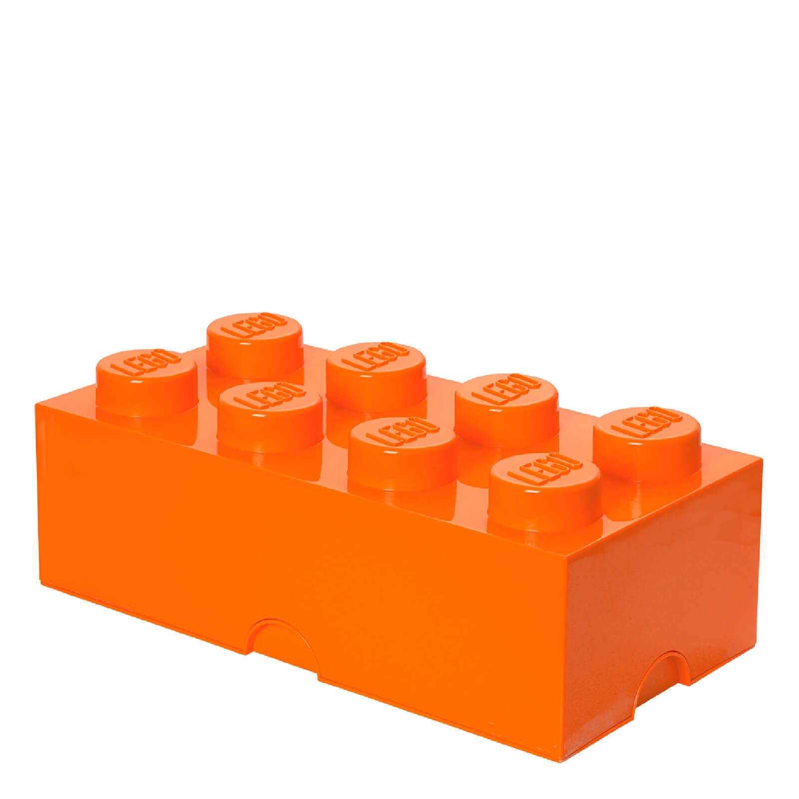 Lego Storage Brick 8 - Bright Orange