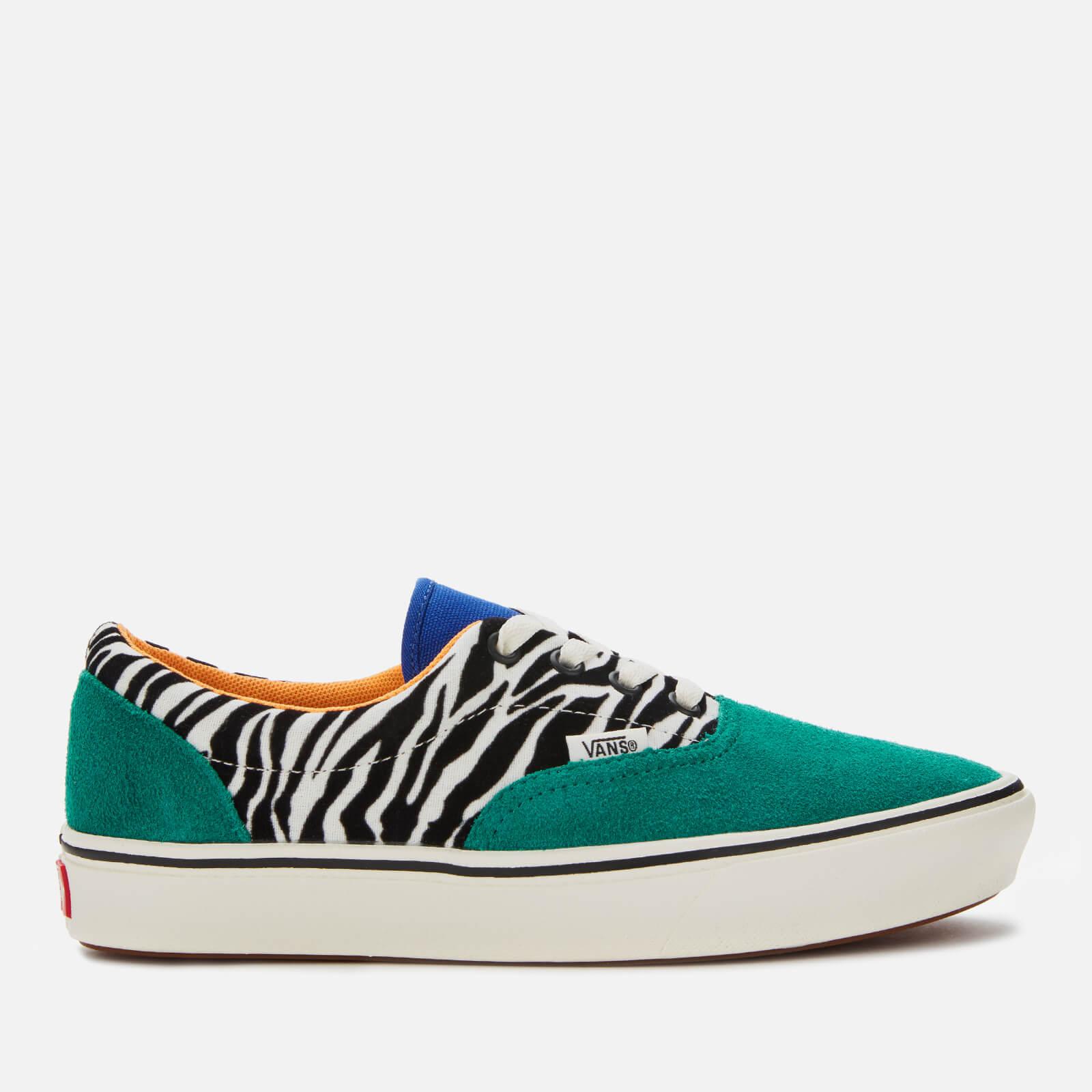 Vans ComfyCush Era Zebra Print Trainers - Tidepool/Surf The Web - UK 5 - Green/Multi