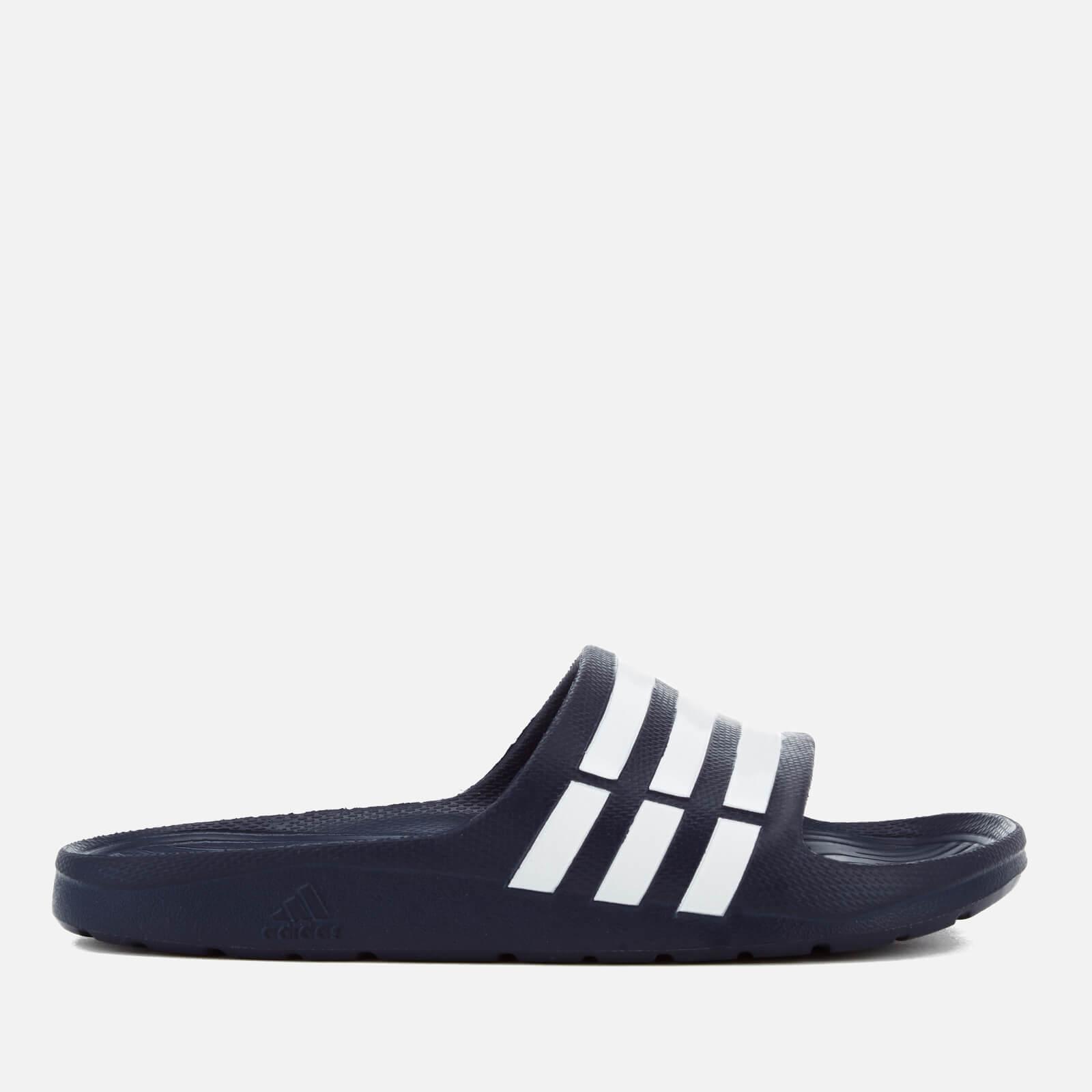adidas Duramo Slide Sandals - Dark Blue - UK 7