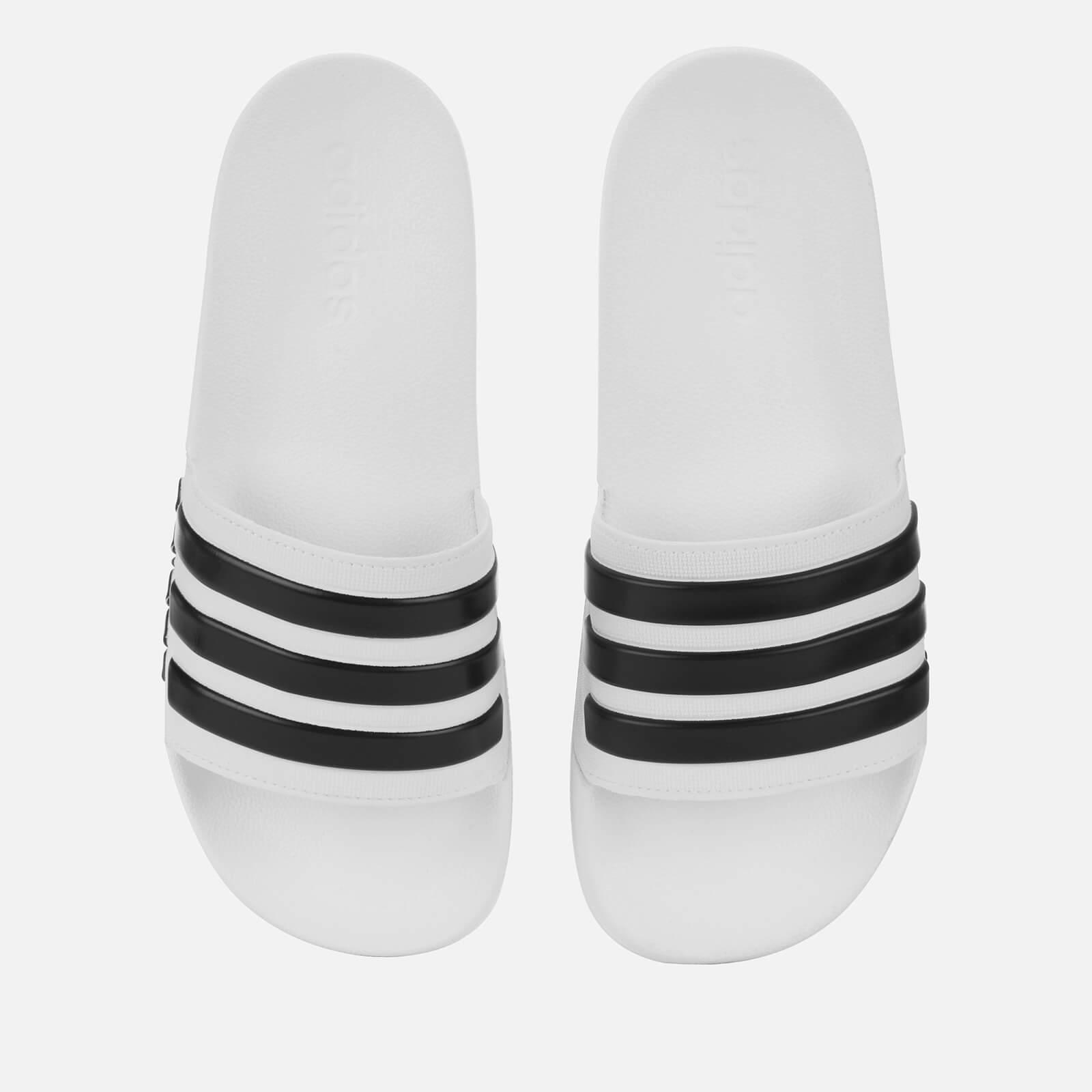 adidas Men's Adilette Shower Slide Sandals - White - UK 8 - White