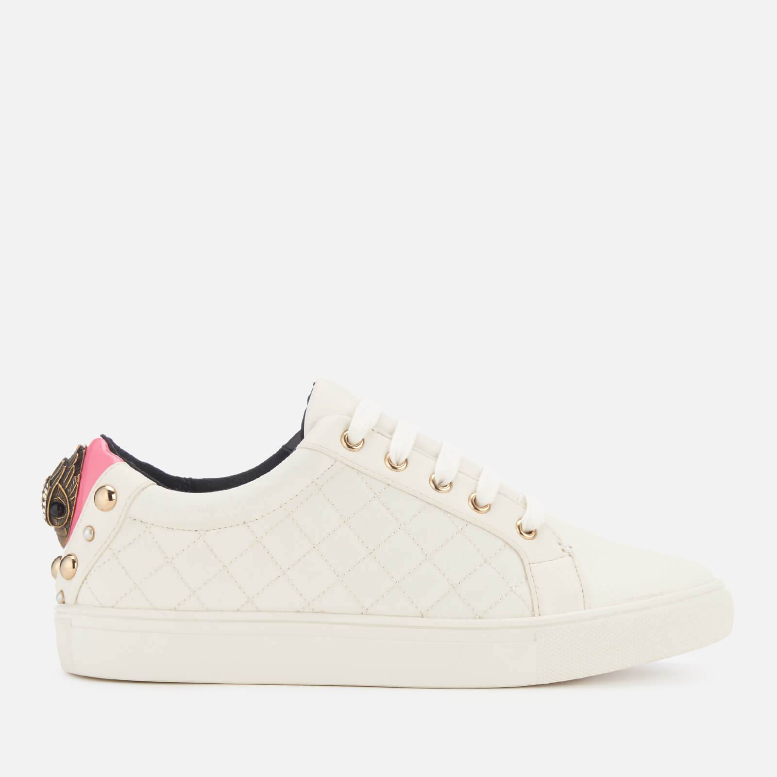 Kurt Geiger London Women's Ludo Leather Low Top Trainers - Pink Comb - UK 3 - White