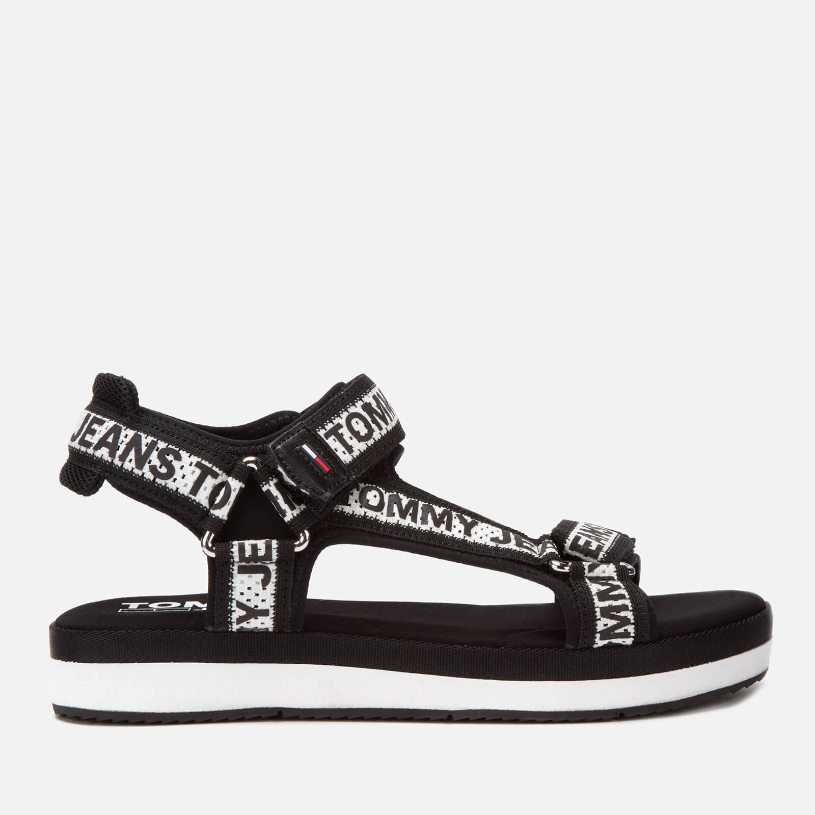 Tommy Jeans Women's Mesh Webbing Sport Sandals - Black - UK 6 - Black