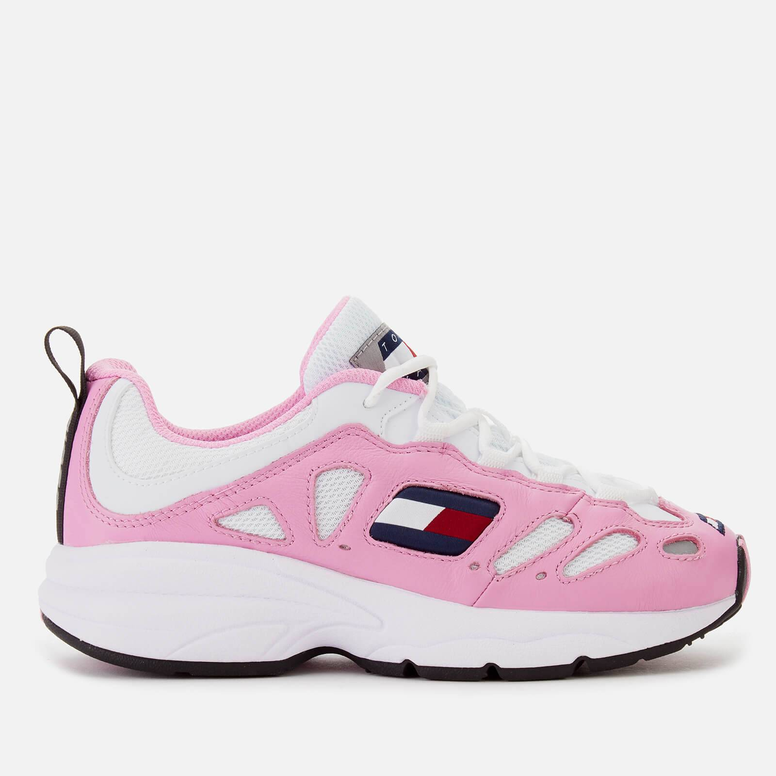 Tommy Jeans Women's Retro Chunky Runner Style Trainers - Pink Mist/White - EU 38/UK 5 - Pink