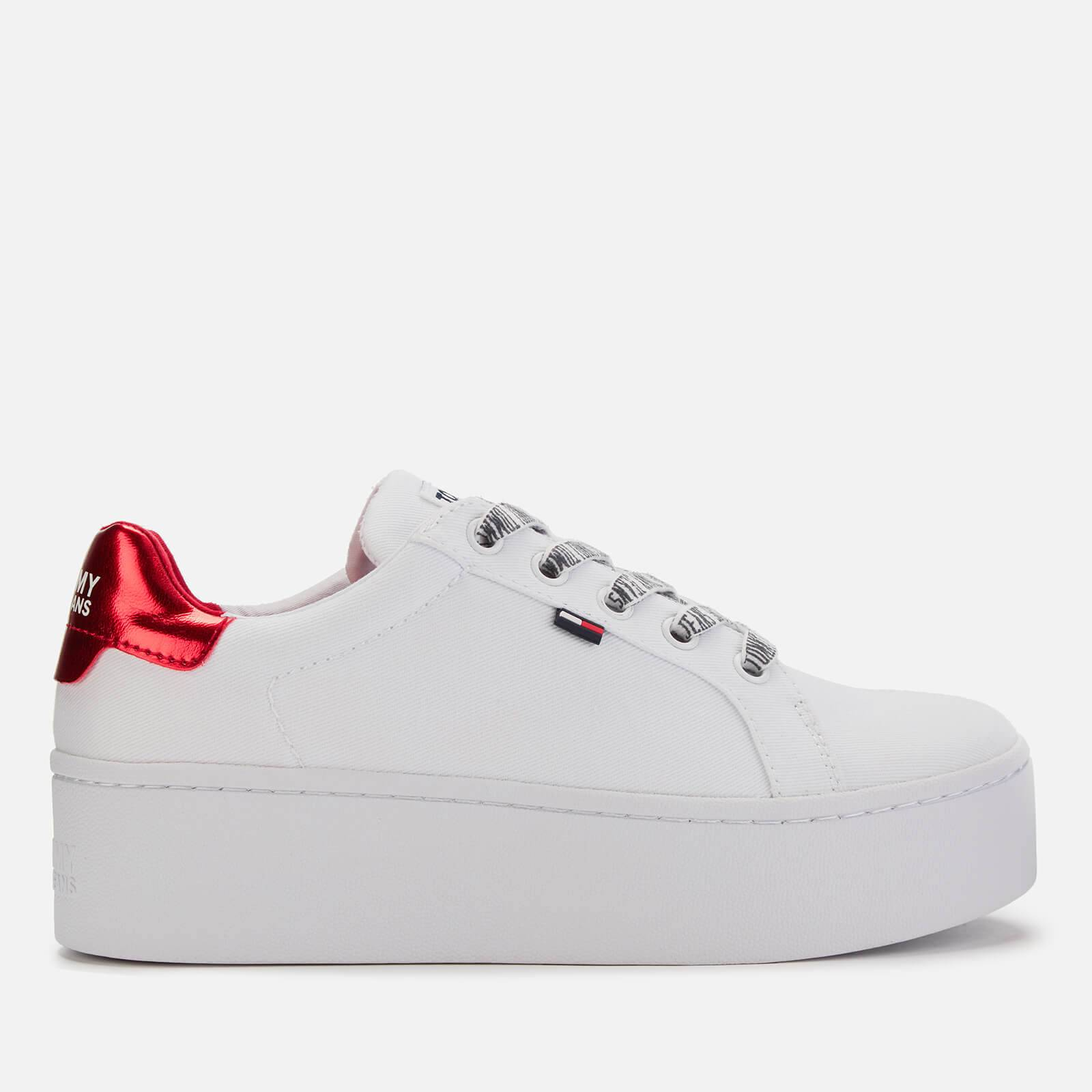 Tommy Jeans Women's Icon Textile Flatform Trainers - White - EU 41/UK 7 - White