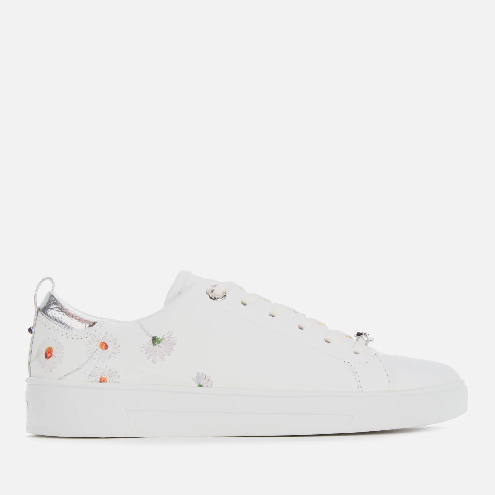 Ted Baker Women's Chalene Leather Low Top Trainers - White - UK 8 - White
