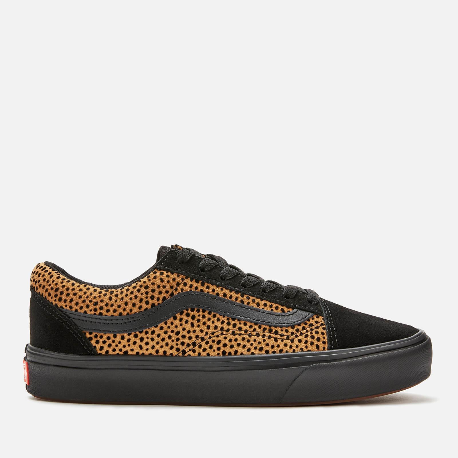 Vans ComfyCush Women's Tiny Cheetah Old Skool Trainers - Black - UK 4 - Black
