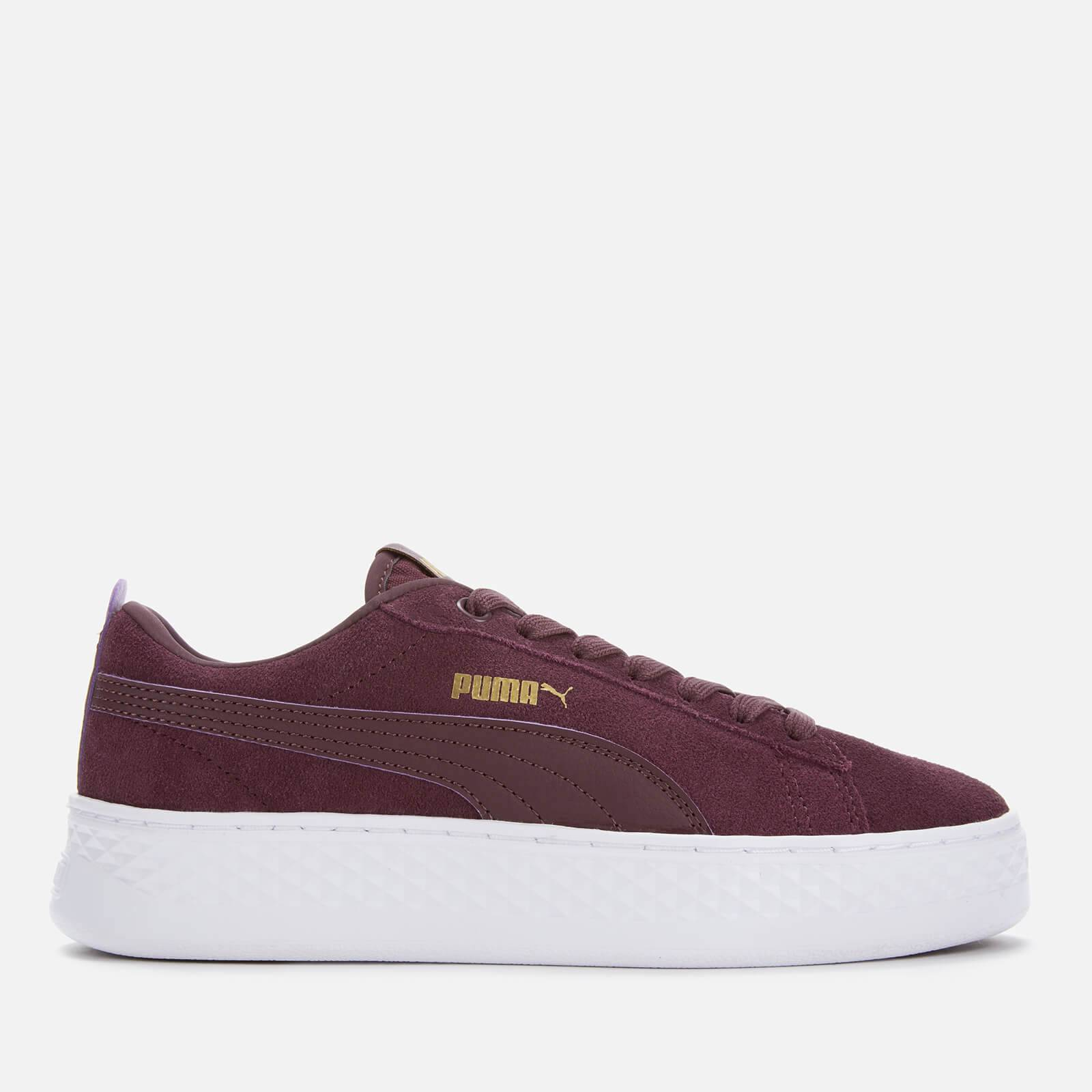 Puma Women's Smash Platform Low Trainers - Wine - UK 5 - Purple