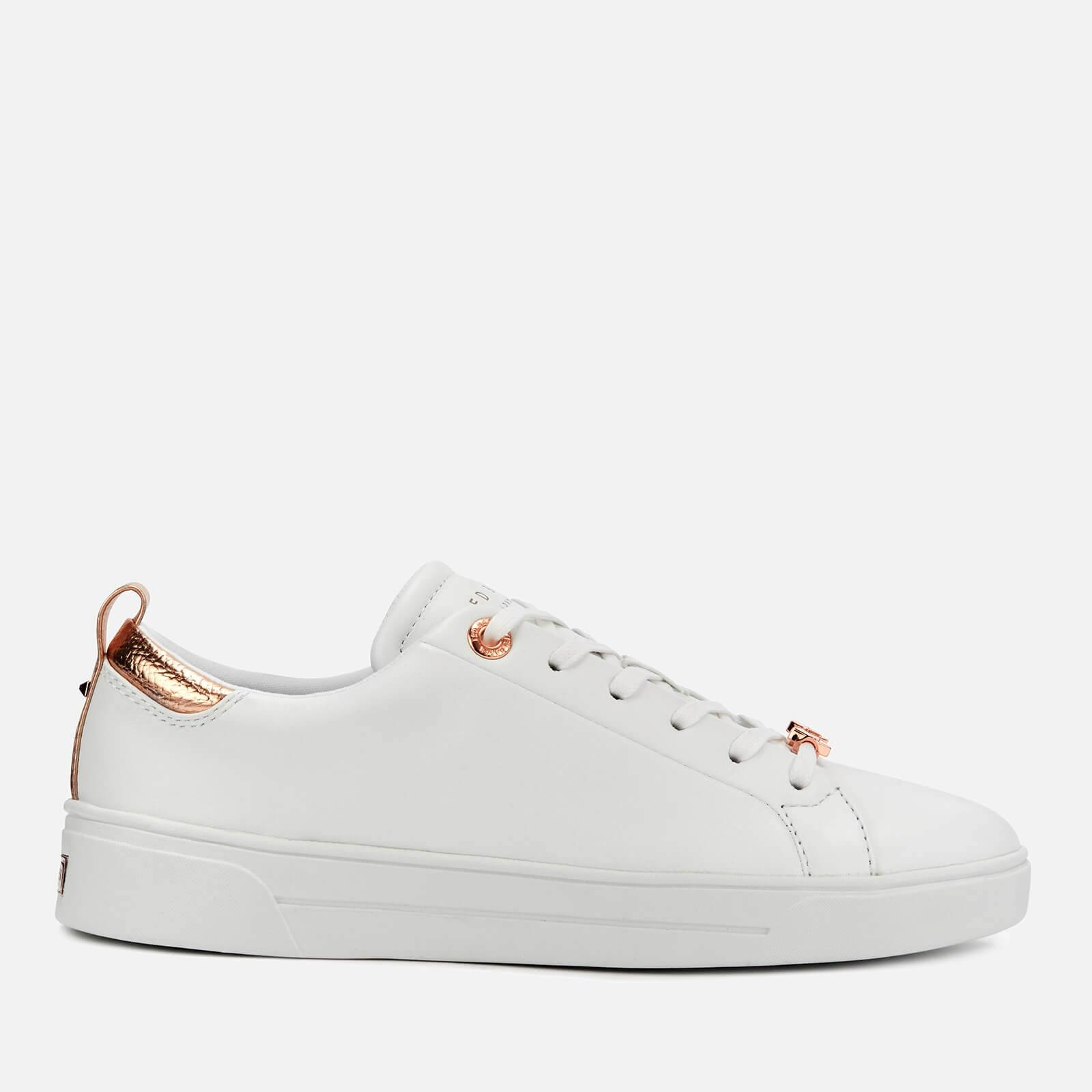 Ted Baker Women's Gielli Leather Low Top Trainers - White/White - UK 8 - White