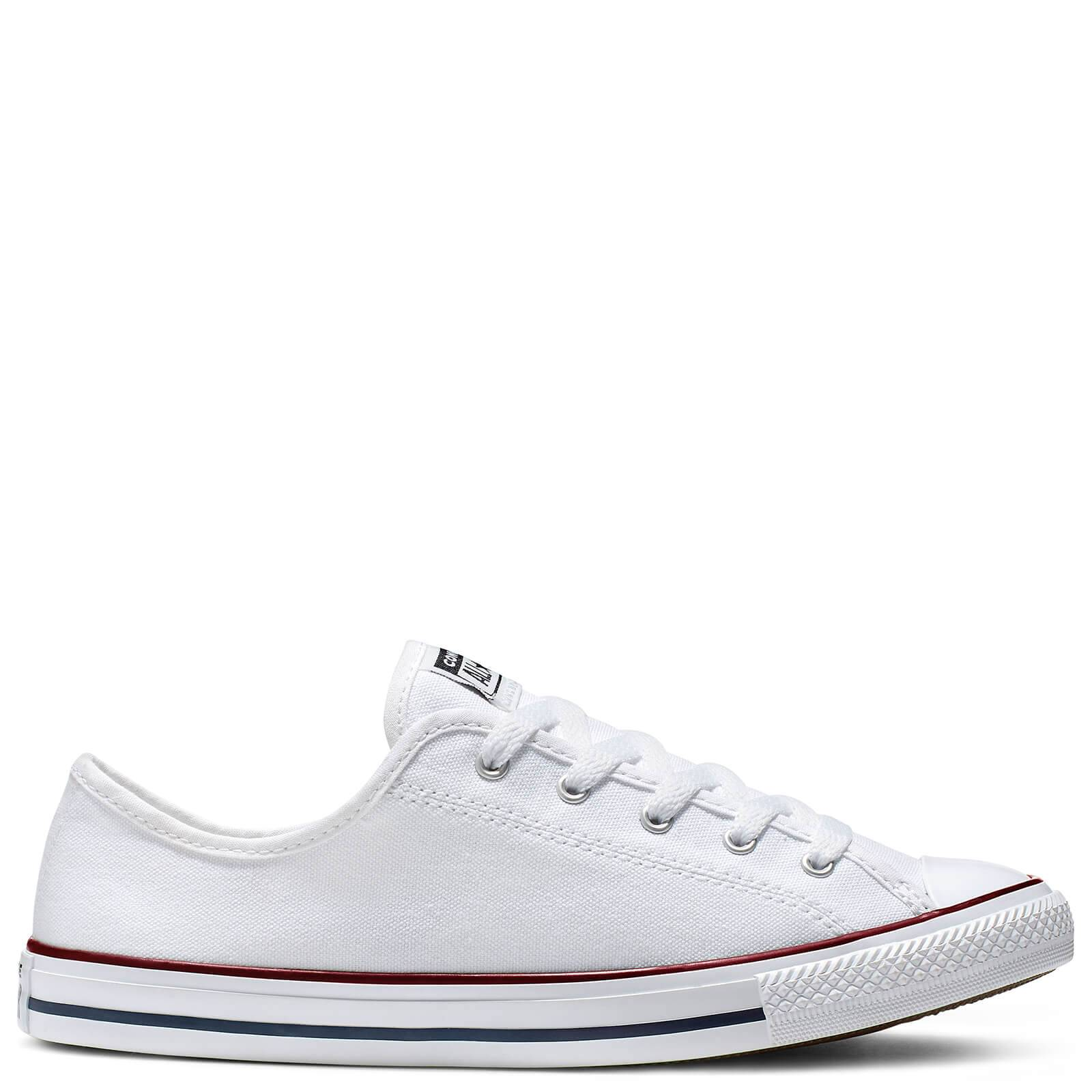 Converse Women's Chuck Taylor All Star Dainty Basic Canvas Ox Trainers - White/Red/Blue - UK 7 - White