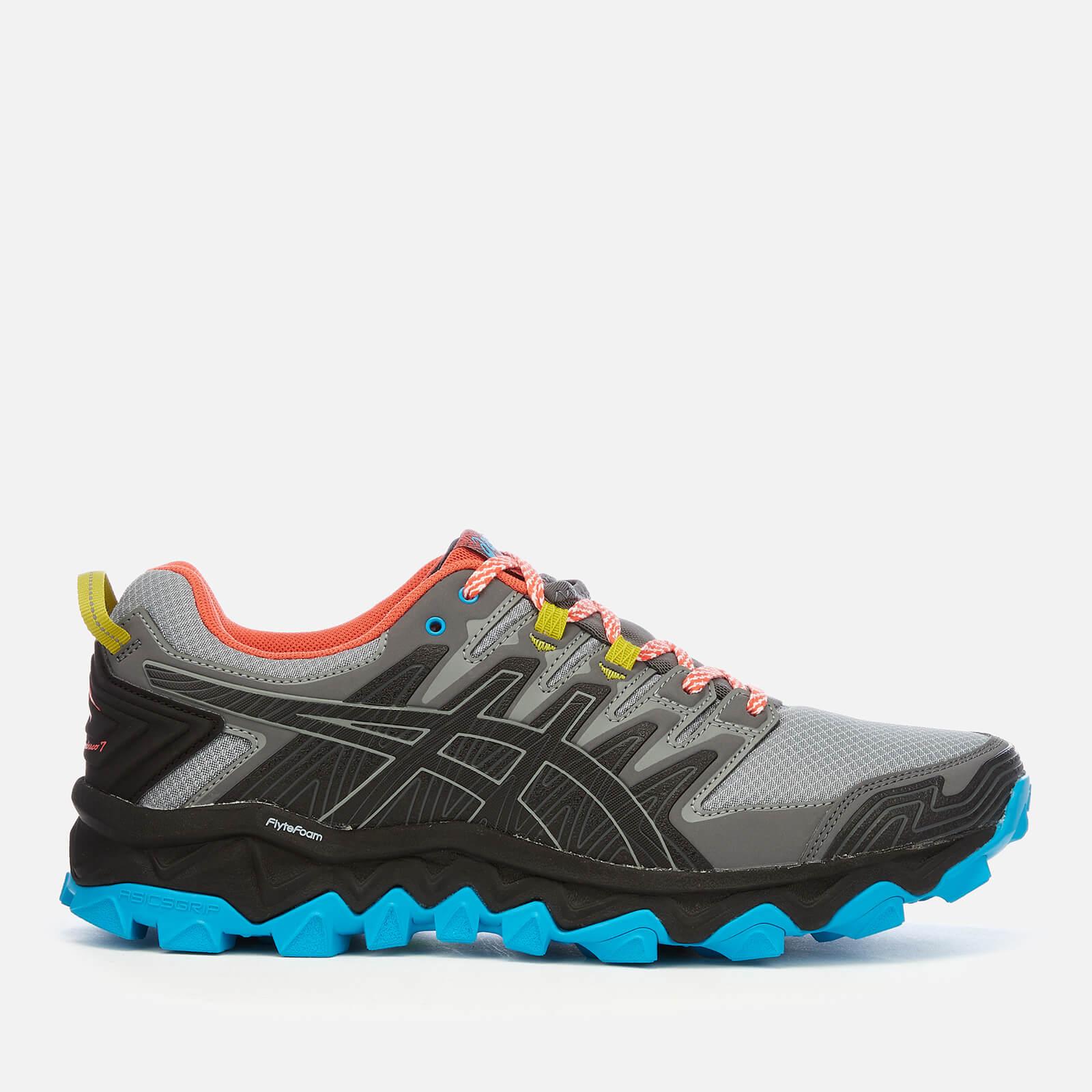 Asics Men's Running Trail Gel-Fujitrabuco 7 Trainers - Stone Grey/Black - UK 7 - Grey